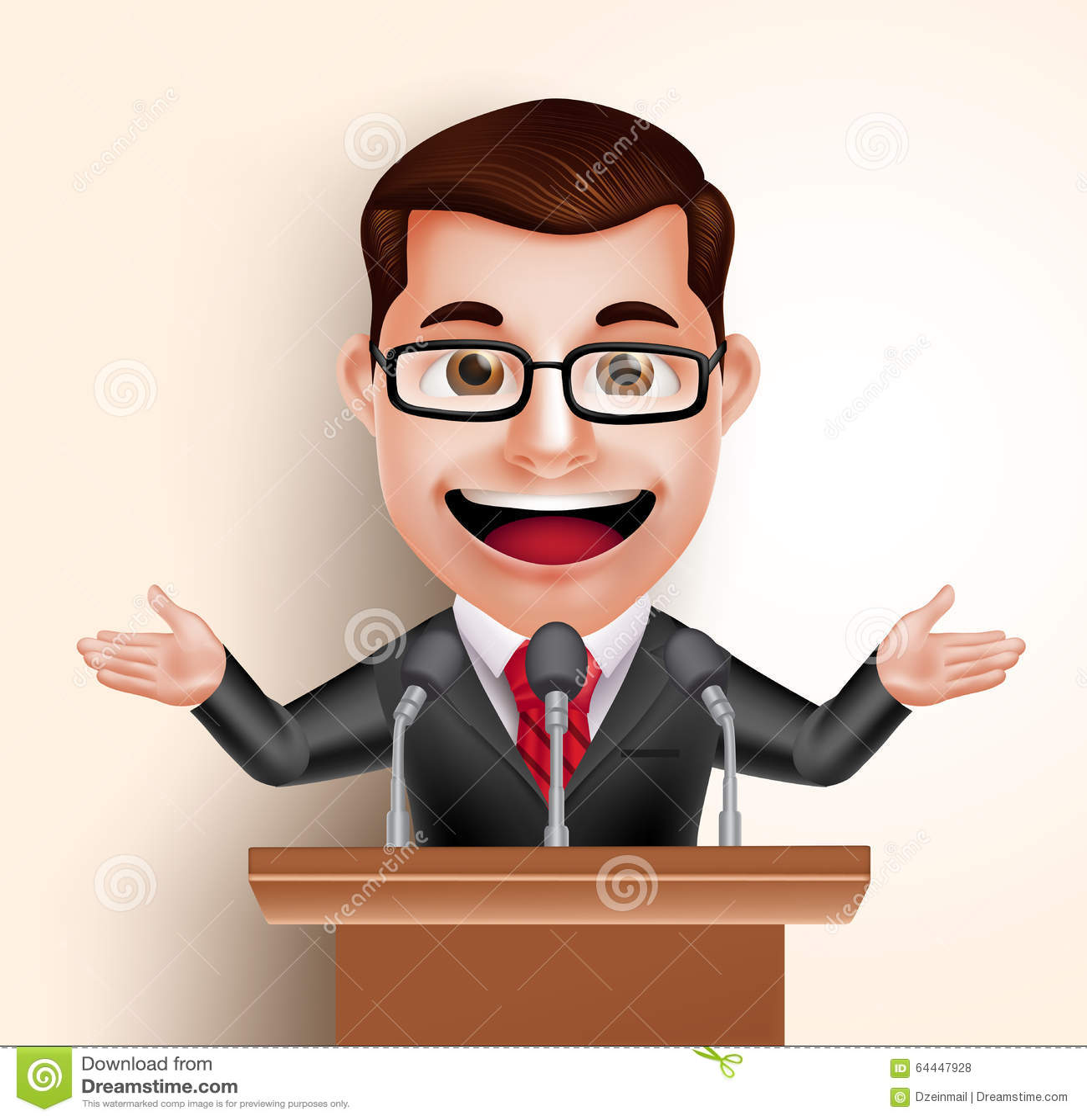 politicien heureux man de caract u00e8re de vecteur ou orateur speaker vector graphic speaker vector icon