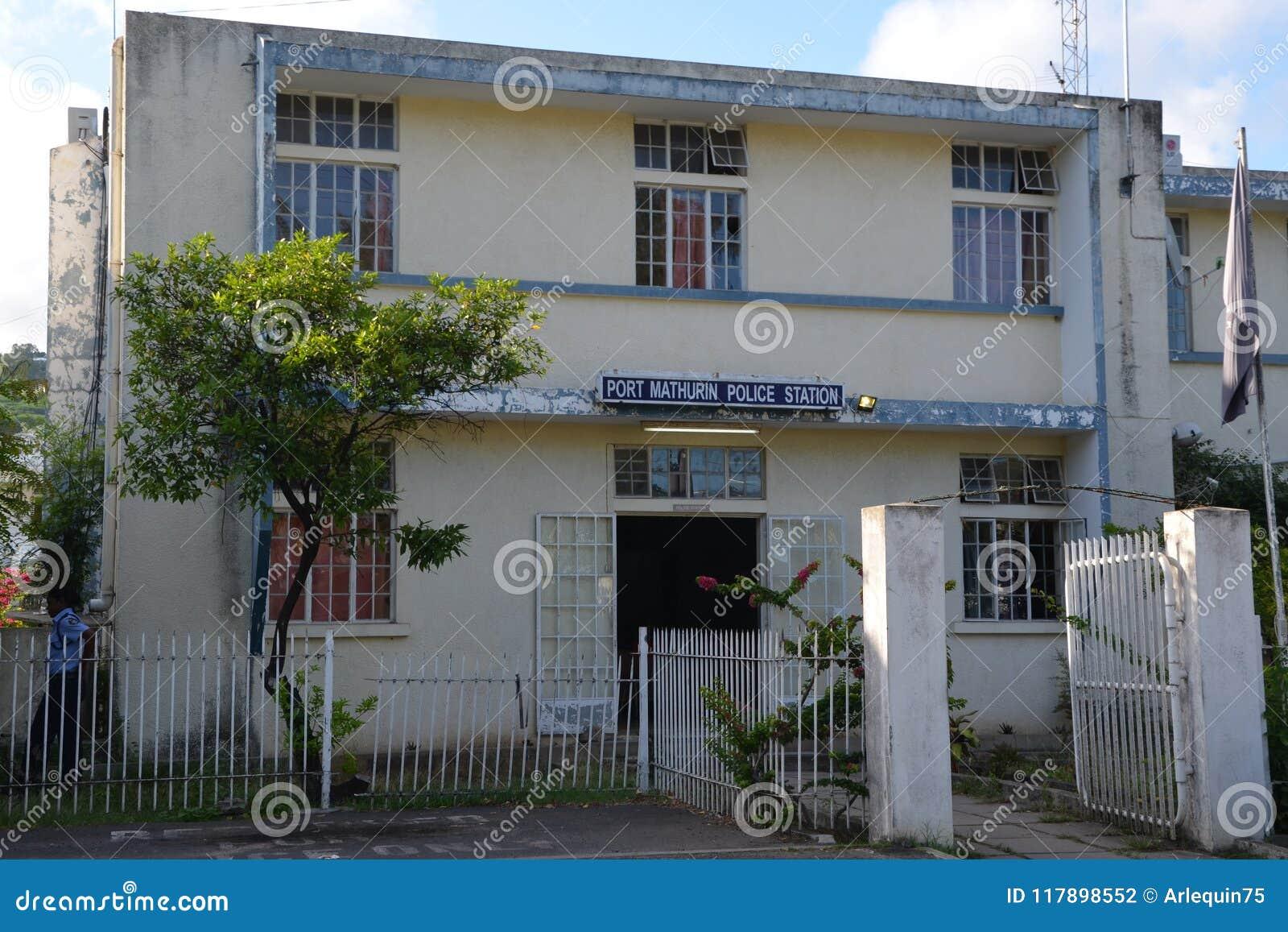 Politiebureau in Haven Mathurin, Rodrigues Island
