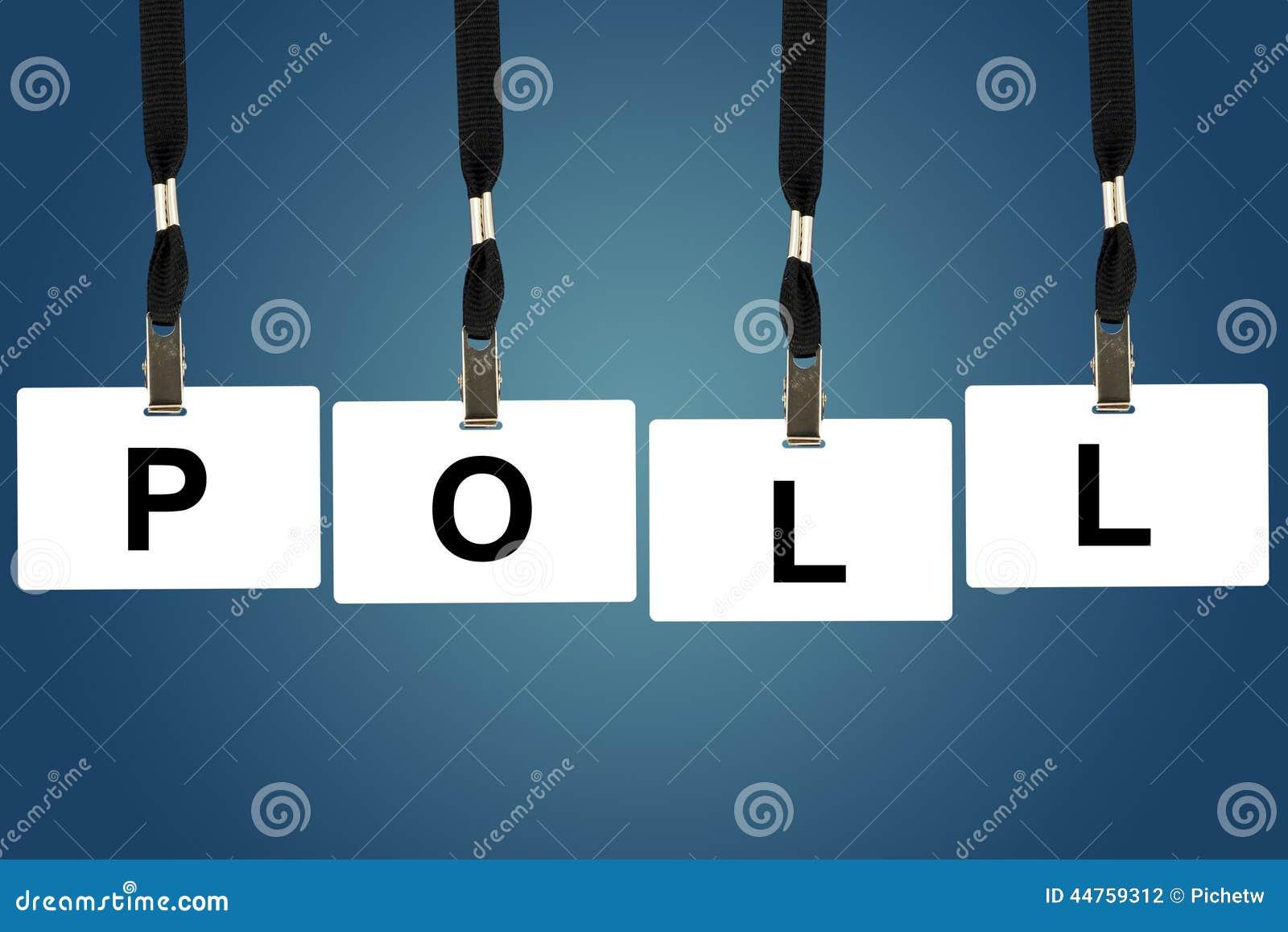 Politiek opiniepeilingswoord
