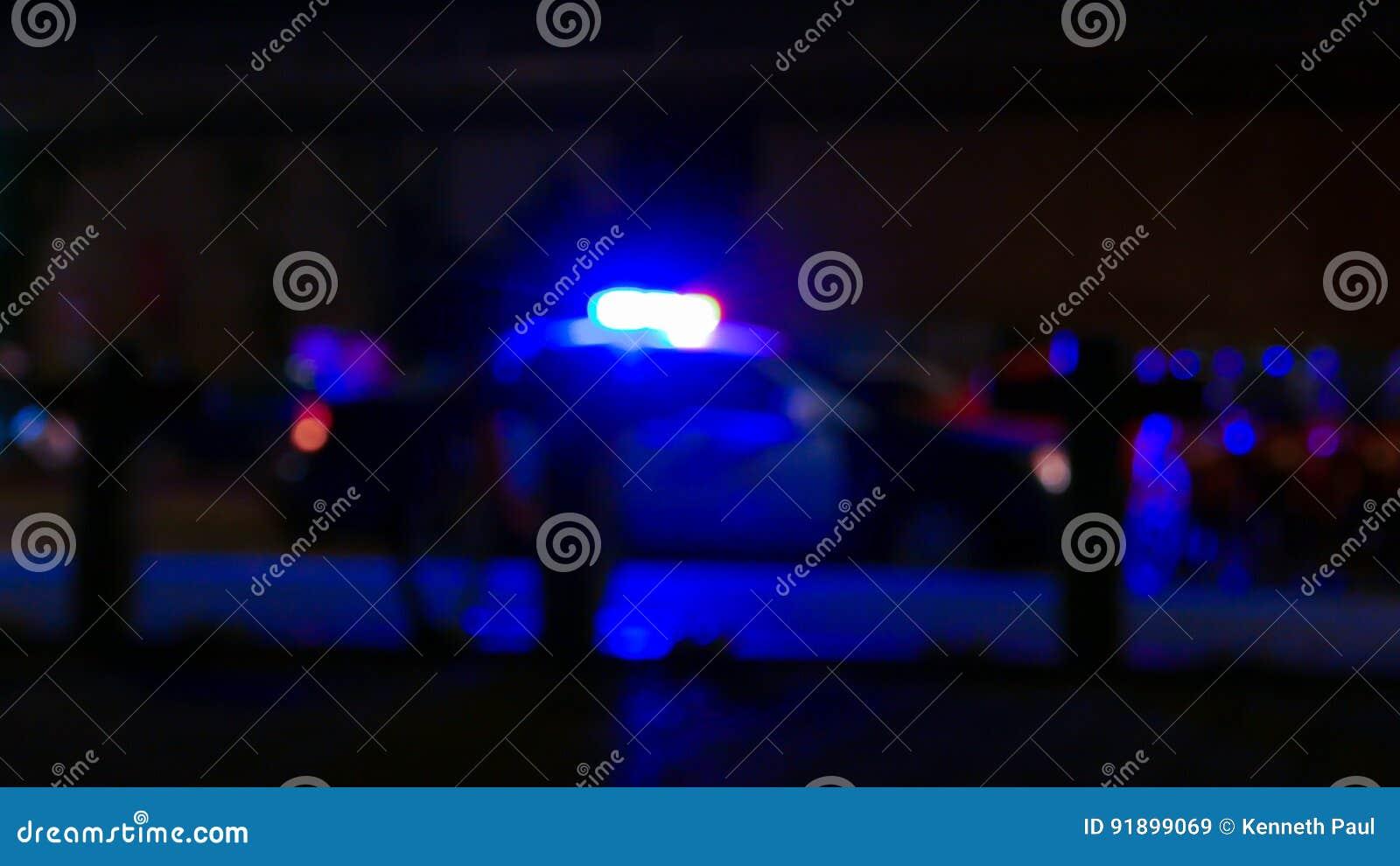 Politiewagen met sirene, Defocused