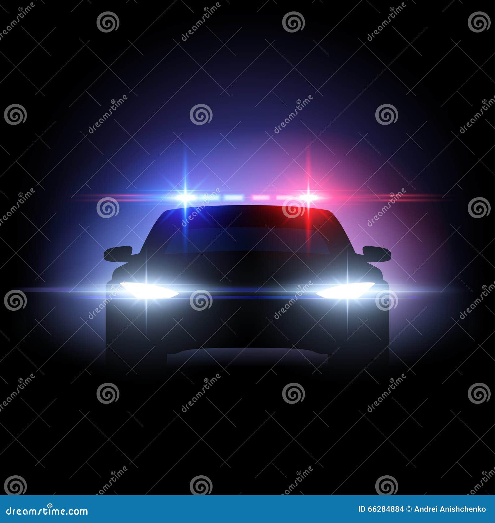 Politiewagenlichteffect