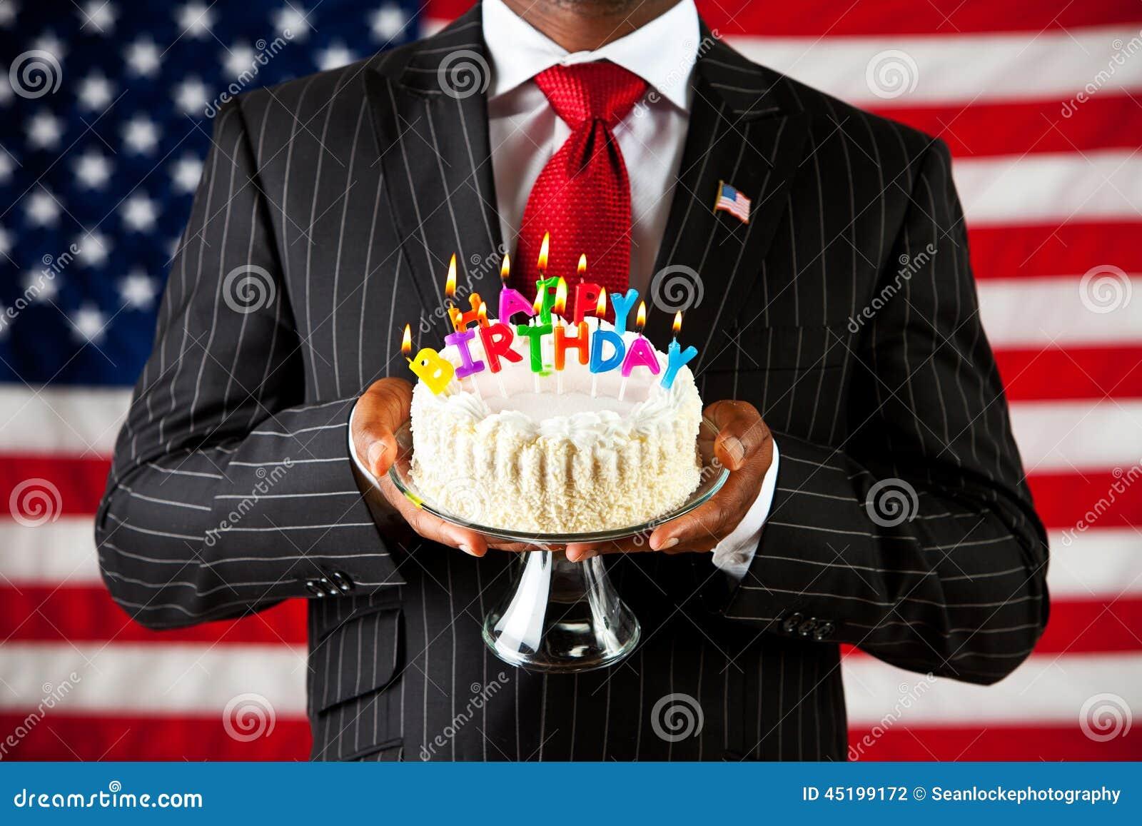 Politiker Alles Gute Zum Geburtstag Nach Amerika Stockfoto Bild