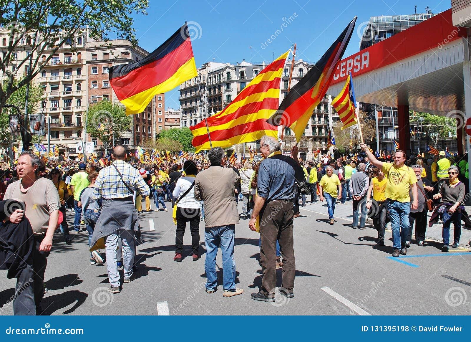 Politikmarsch Llibertat Presos in Barcelona