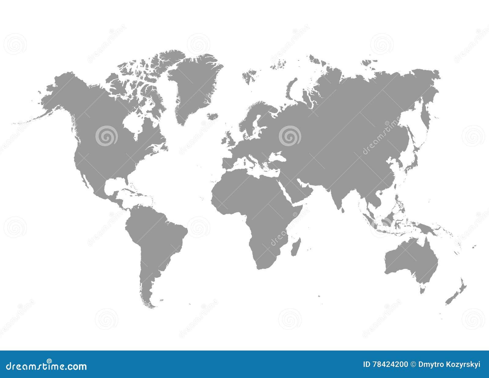Politische Karte Der Welt Grau - Länder Auch Im Corel Abgehobenen ...