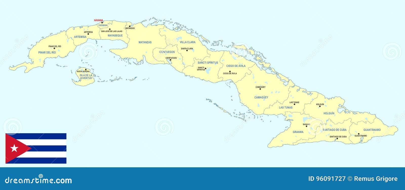 Karte Kuba.Politische Karte Von Kuba Vektor Abbildung Illustration Von Clara