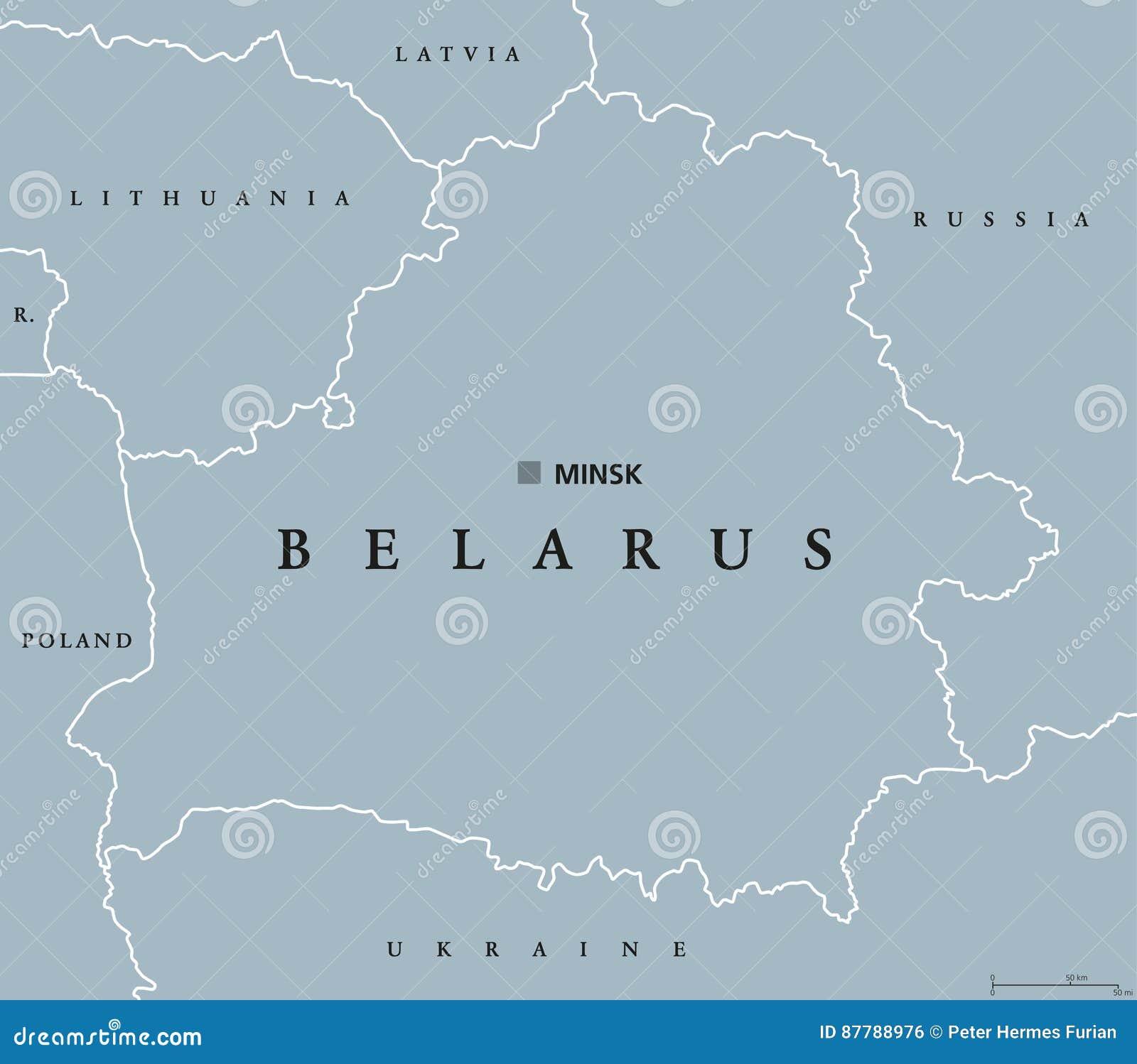 Politische Karte Weissrusslands Vektor Abbildung Illustration Von Belarus Zustand 87788976