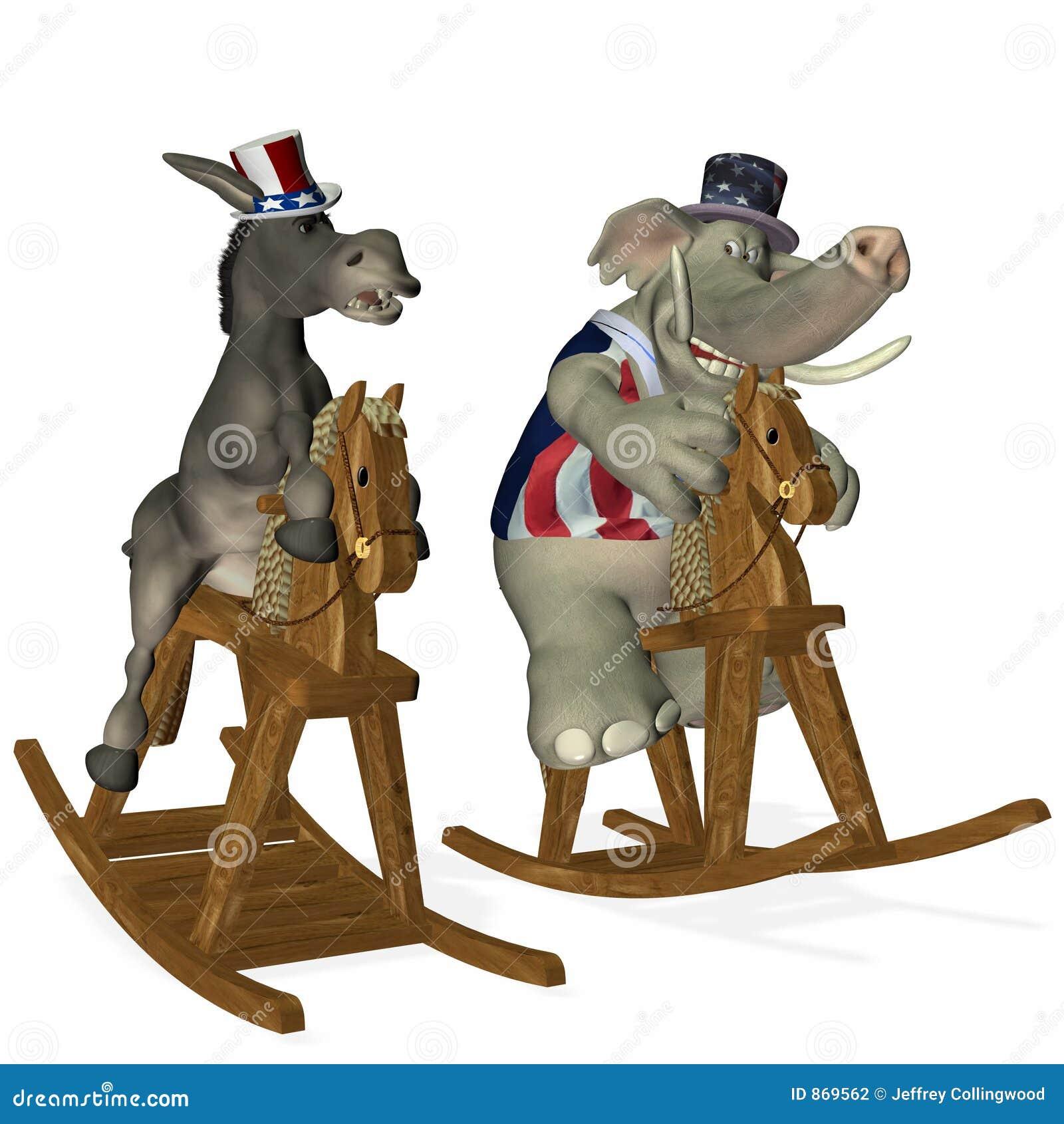 Politisches Pferden-Rennen 1