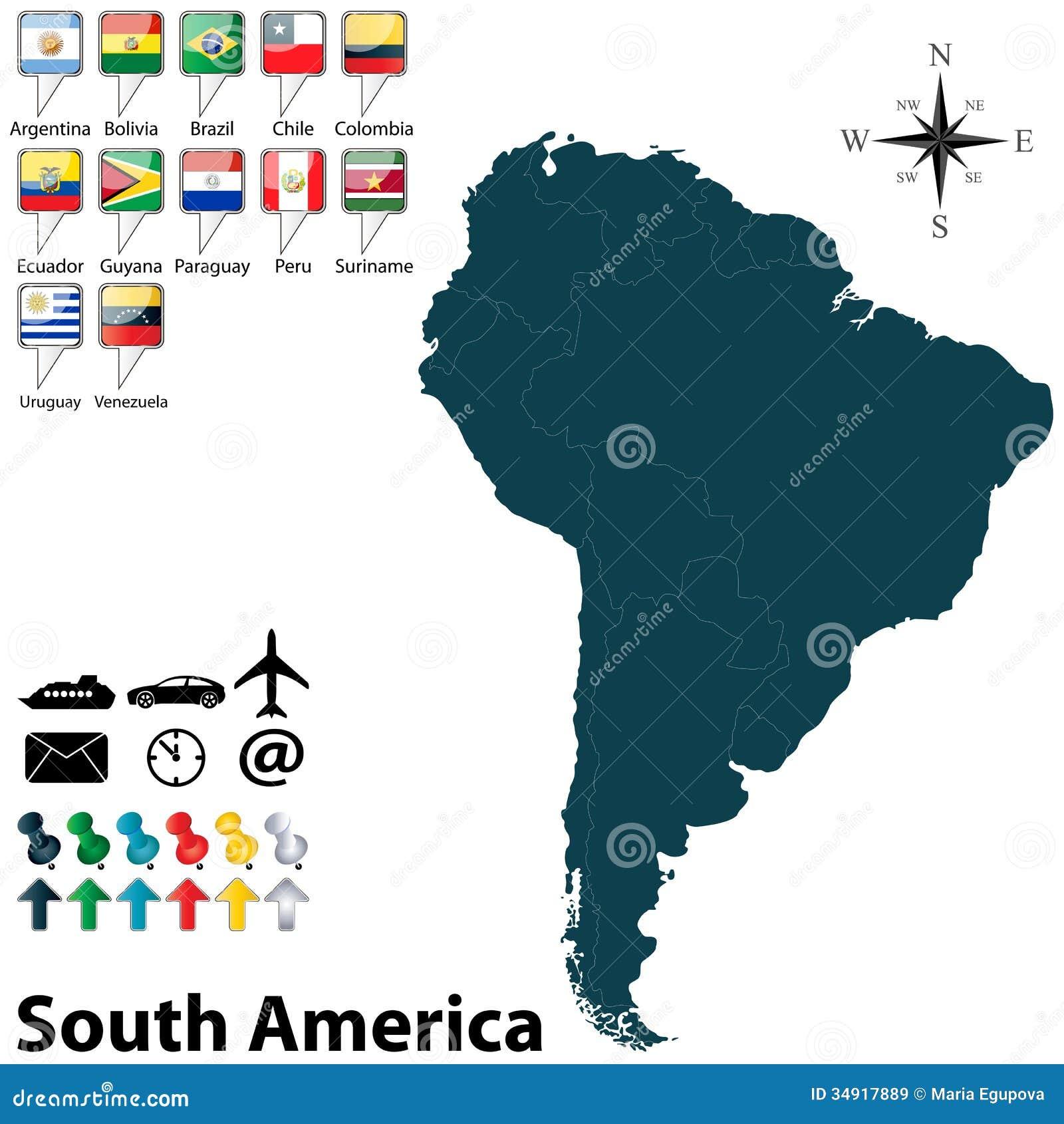 Politisk översikt av Sydamerika