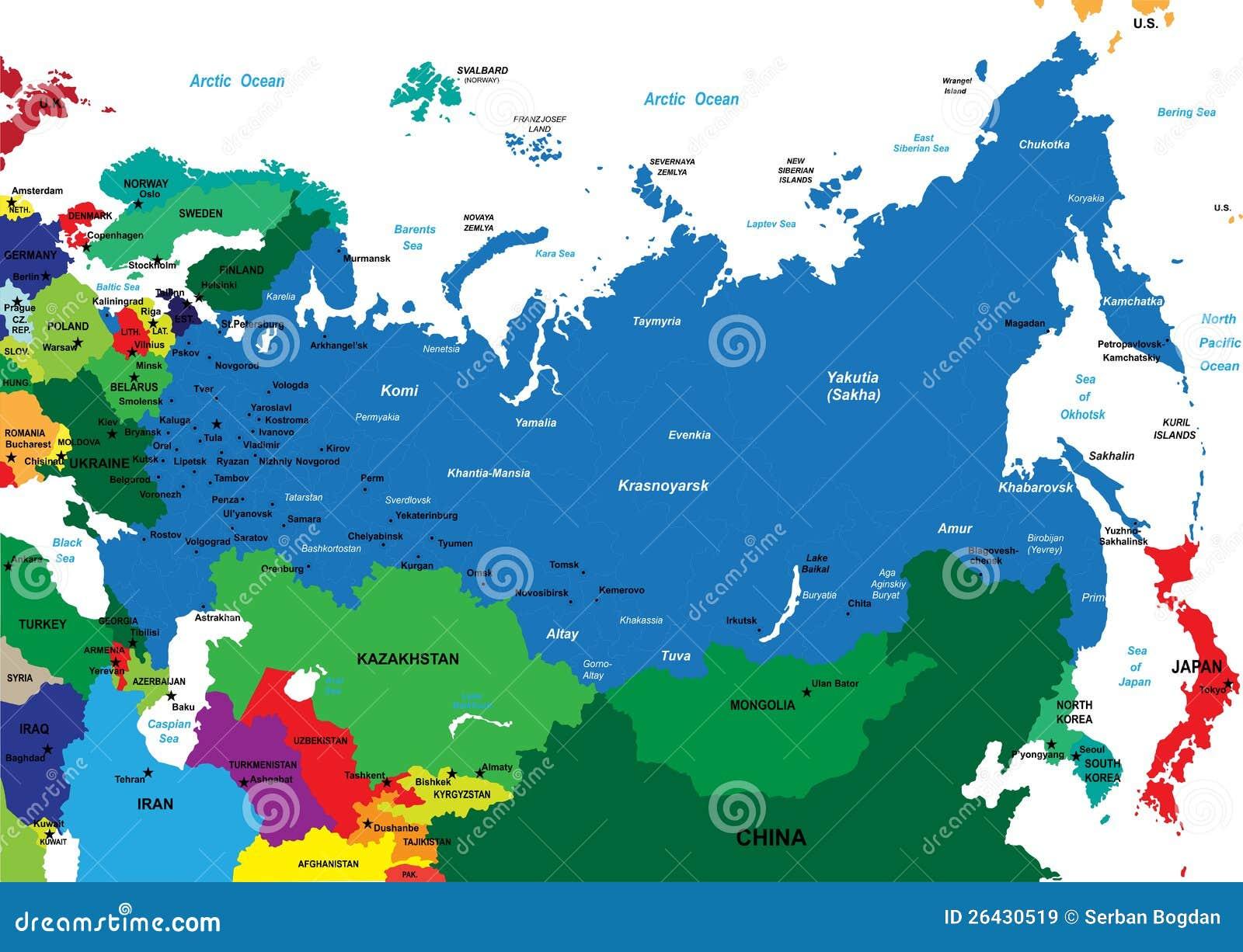 Polityczna mapa Rosja