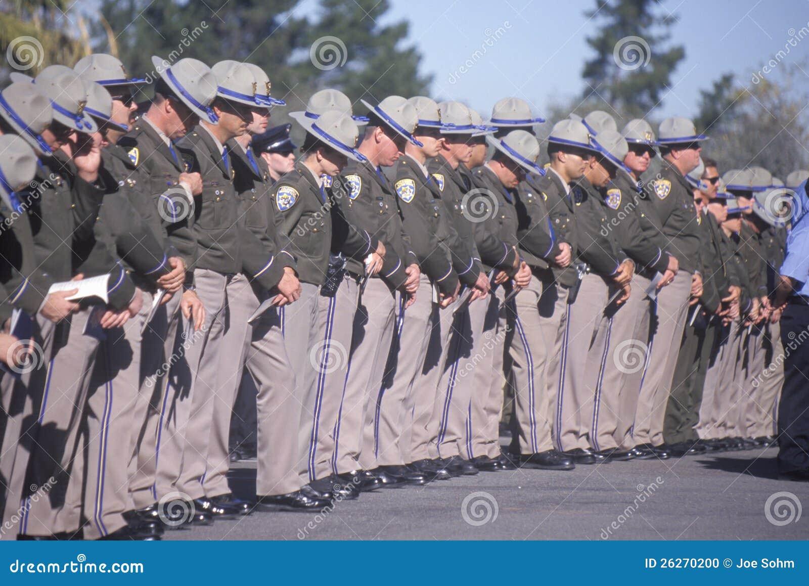 Polizeibeamten an der Begräbnis- Zeremonie,