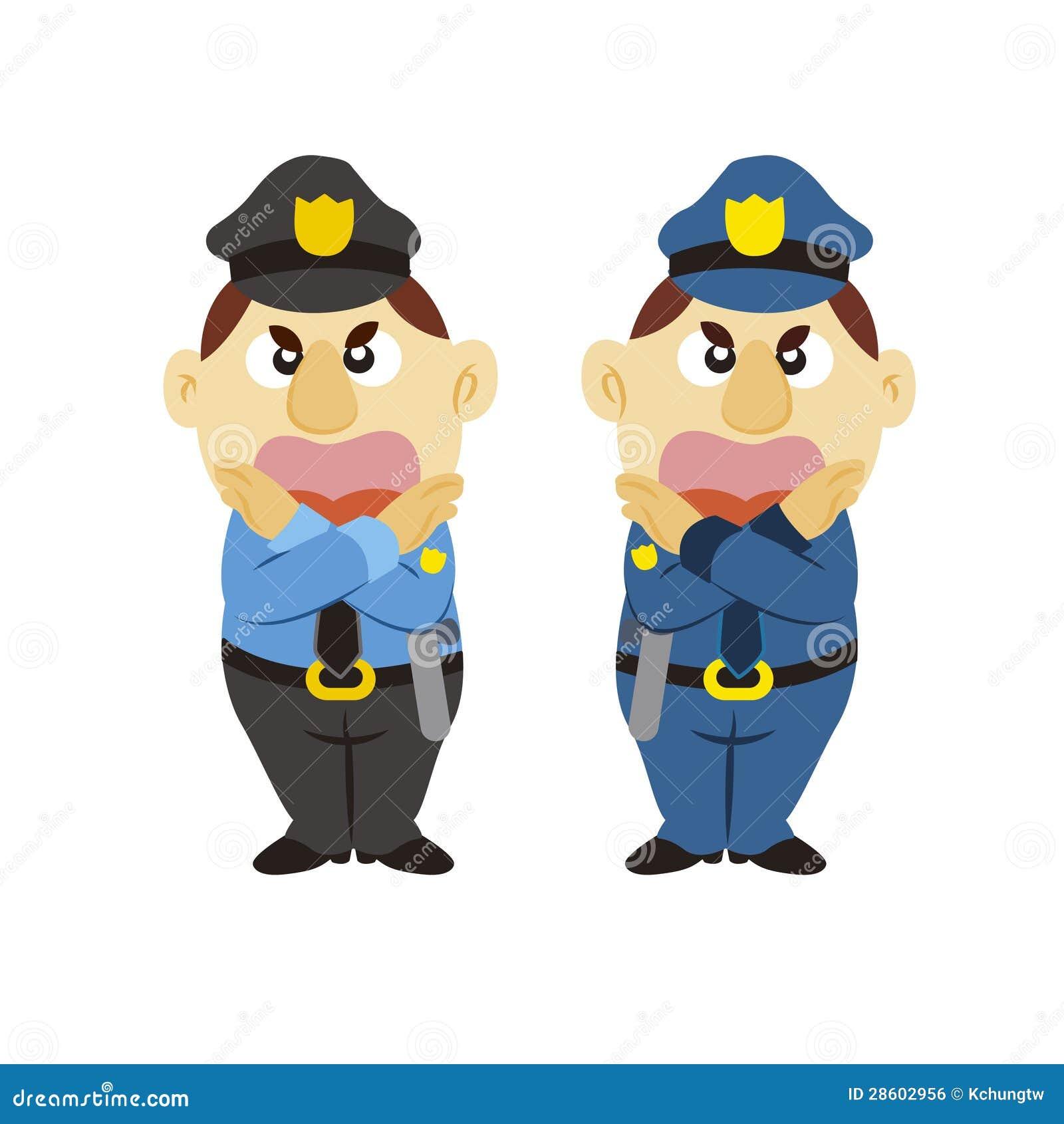 Poliziotto divertente del fumetto due colori immagine - Immagine del mouse a colori ...