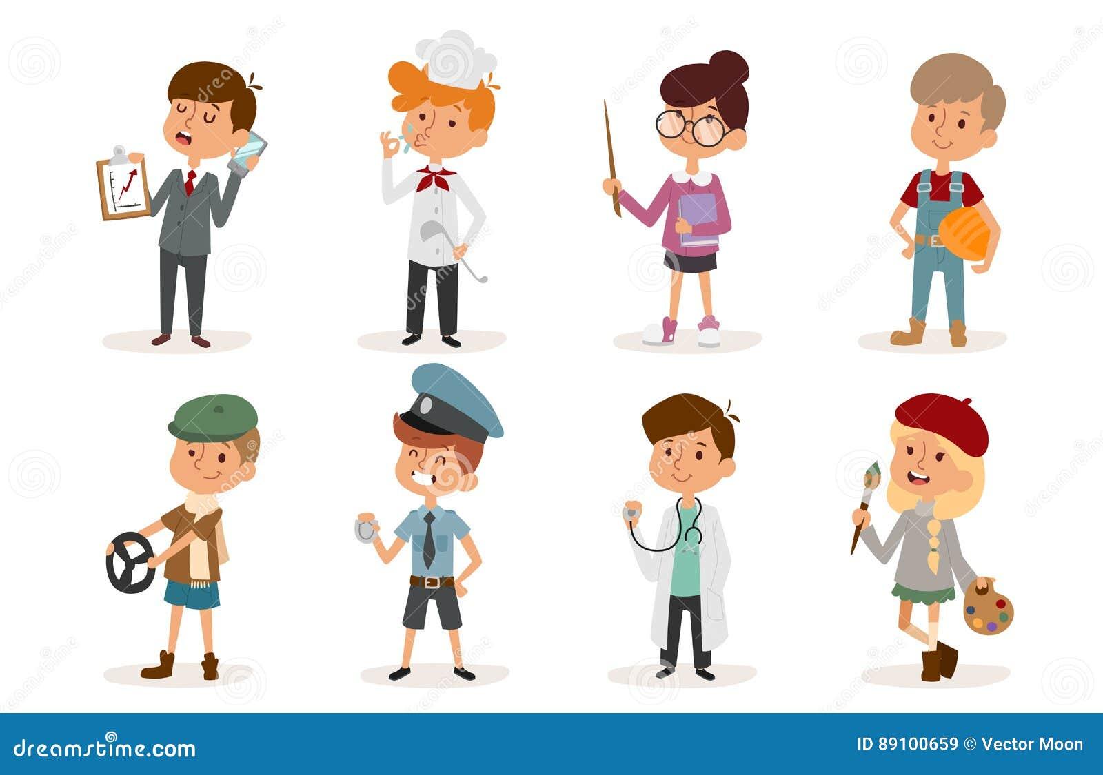 Poliziotto stabilito del costruttore del cuoco unico dello sportivo del pittore di infanzia della persona dell illustrazione di v
