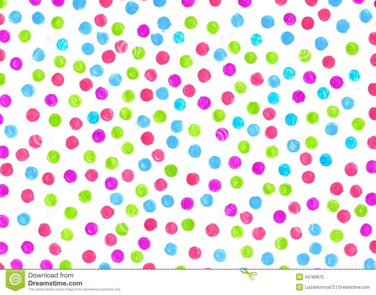 Polka dot background painted markers for different design for Different painting designs