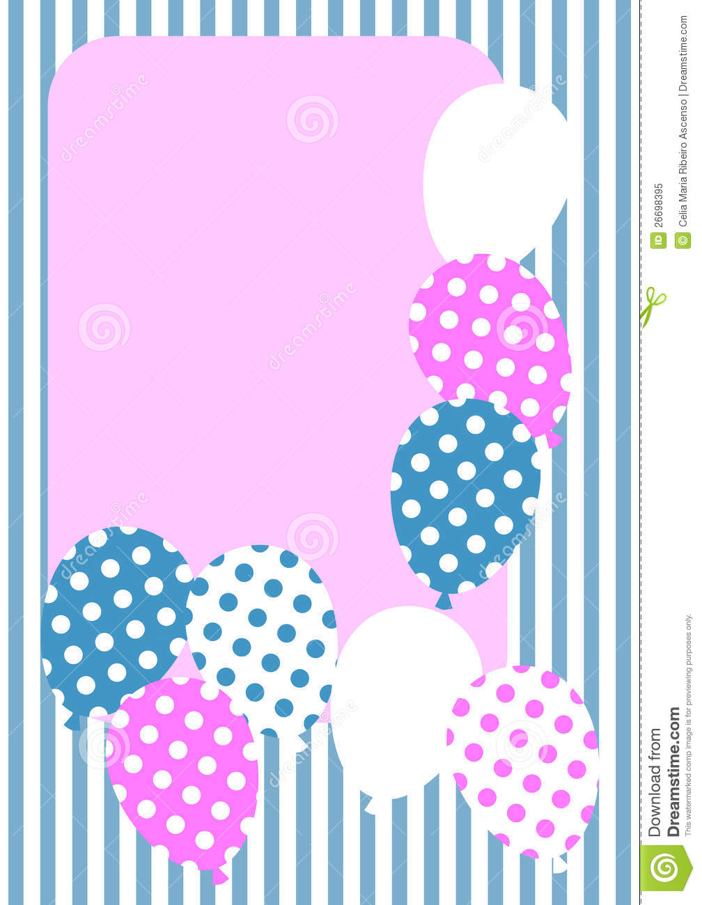 polka dot balloons invitation card stock illustration illustration
