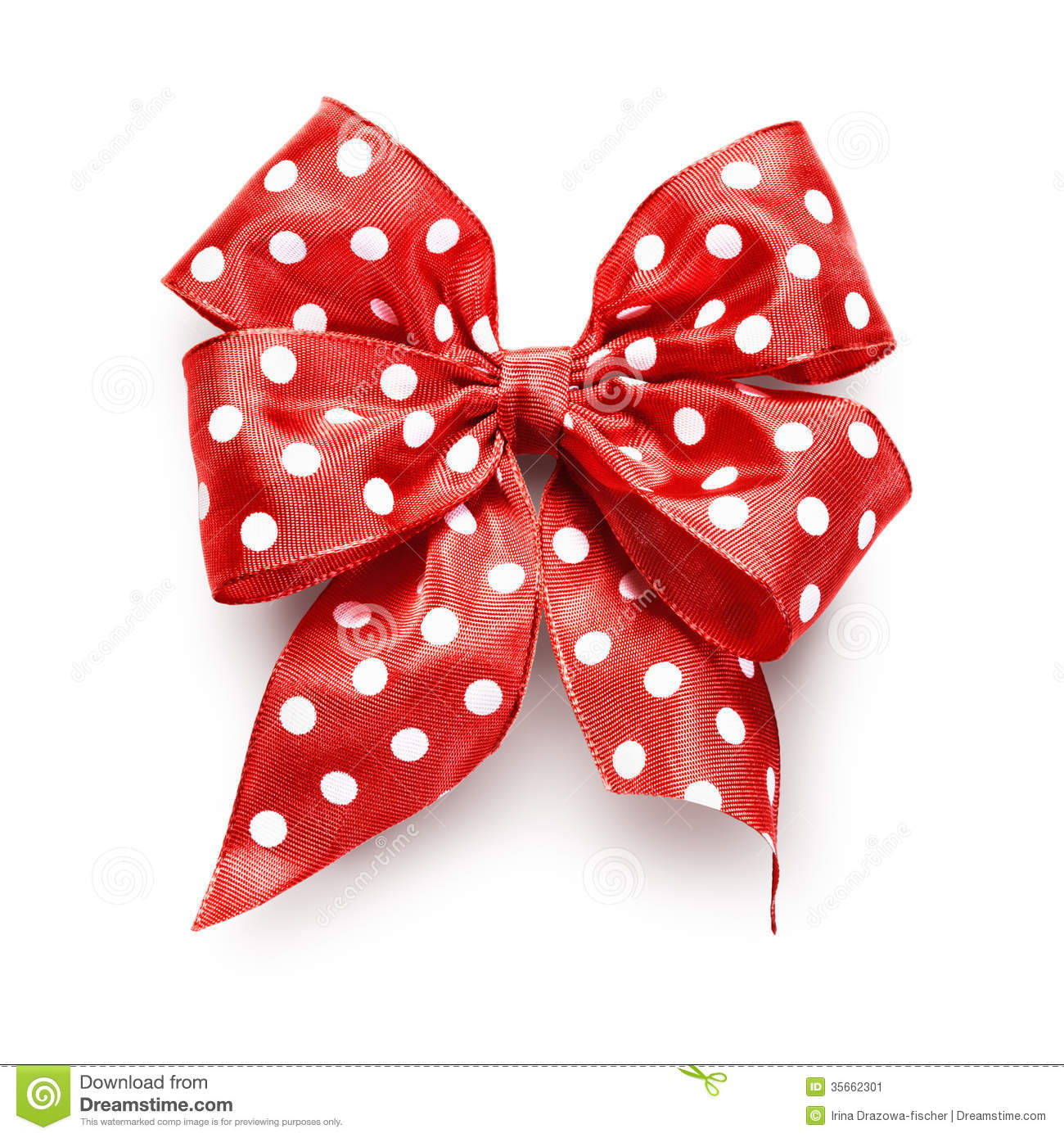 dotted red ribbon and - photo #4