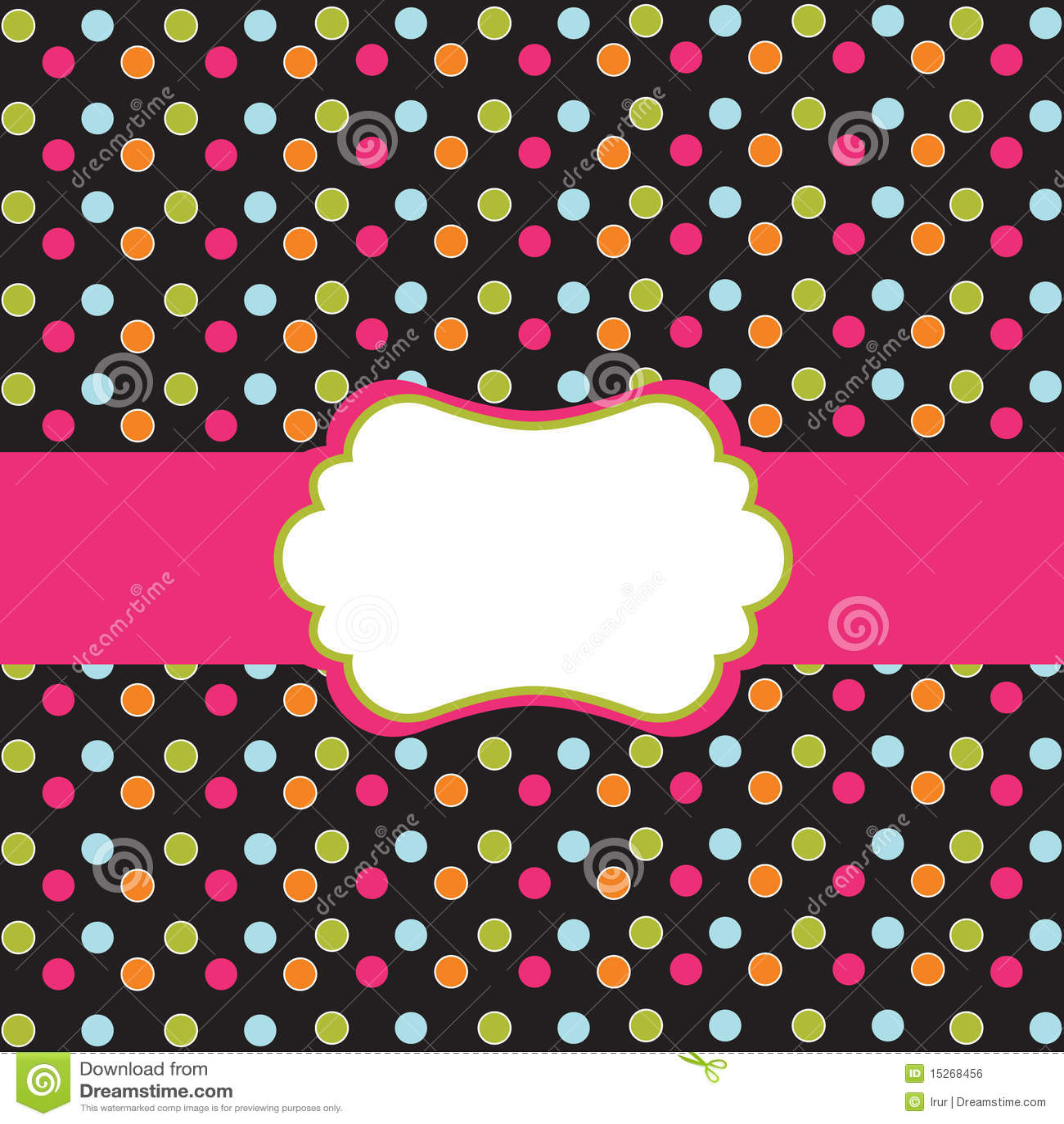 Polka dot design with frame