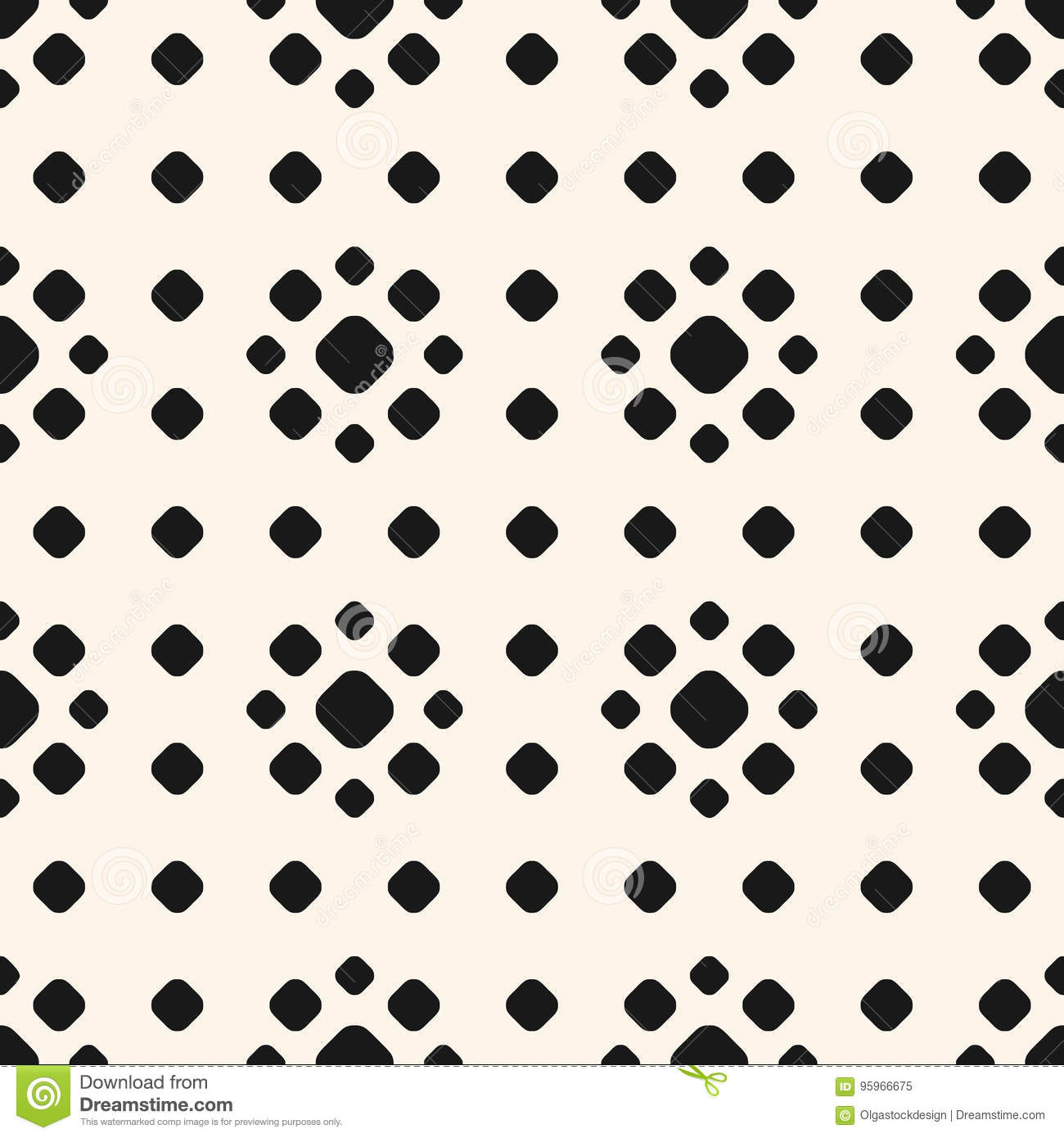 polka dot pattern with circles floral shapes stock vector rh dreamstime com vector halftone dot pattern vector dot pattern illustrator