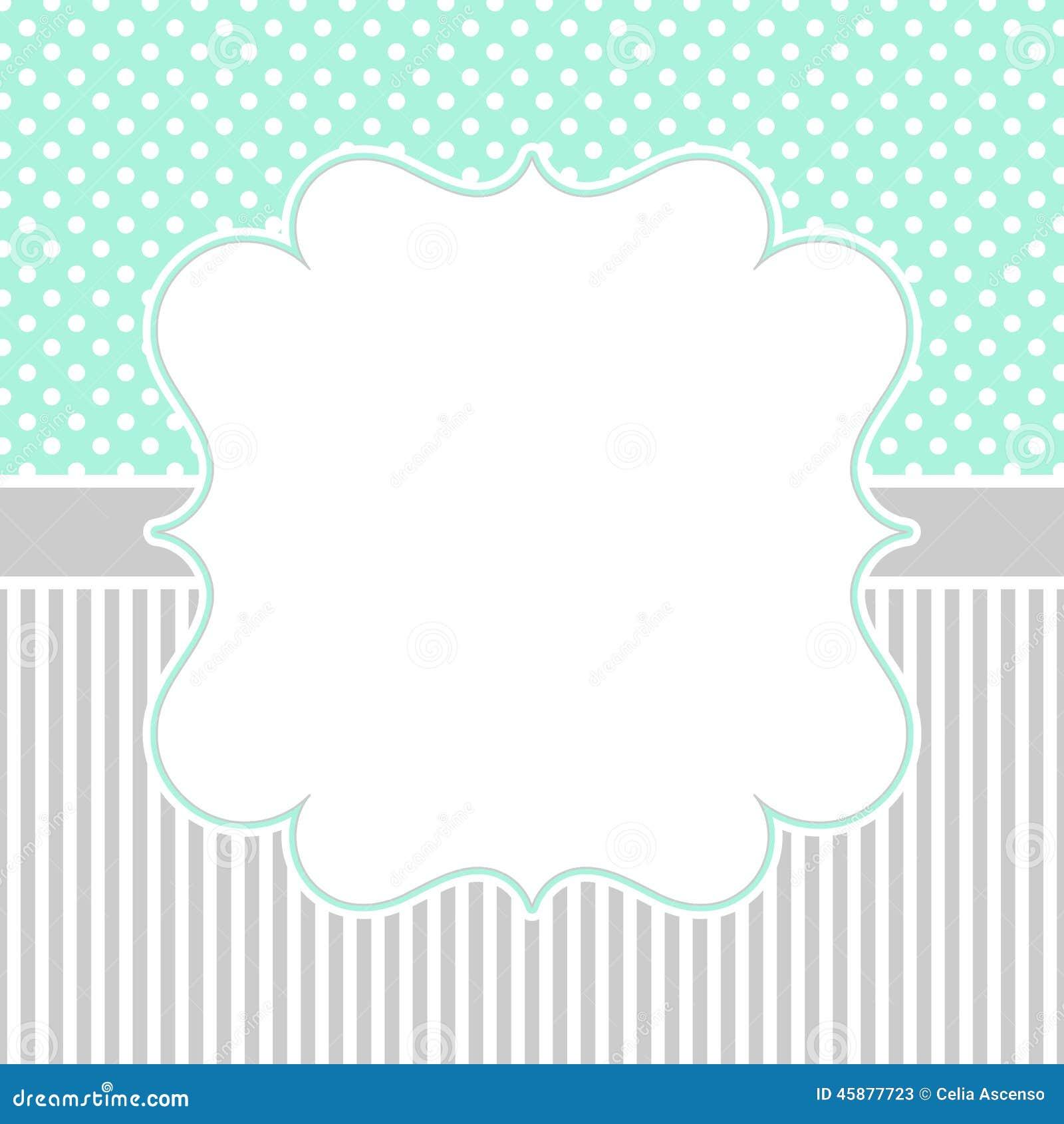 Polka Dots And Stripes Border Frame Stock Illustration
