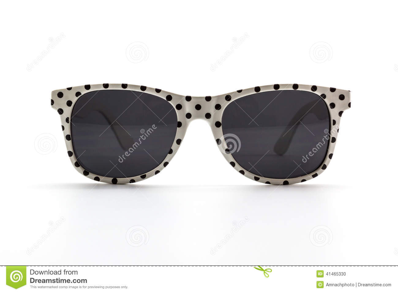 Polka dots sunglasses.