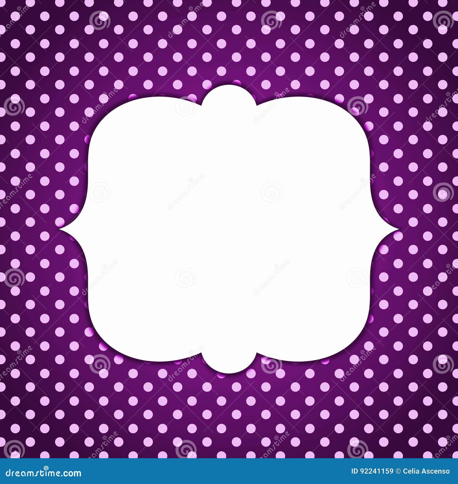 Polka dots vintage dark border frame