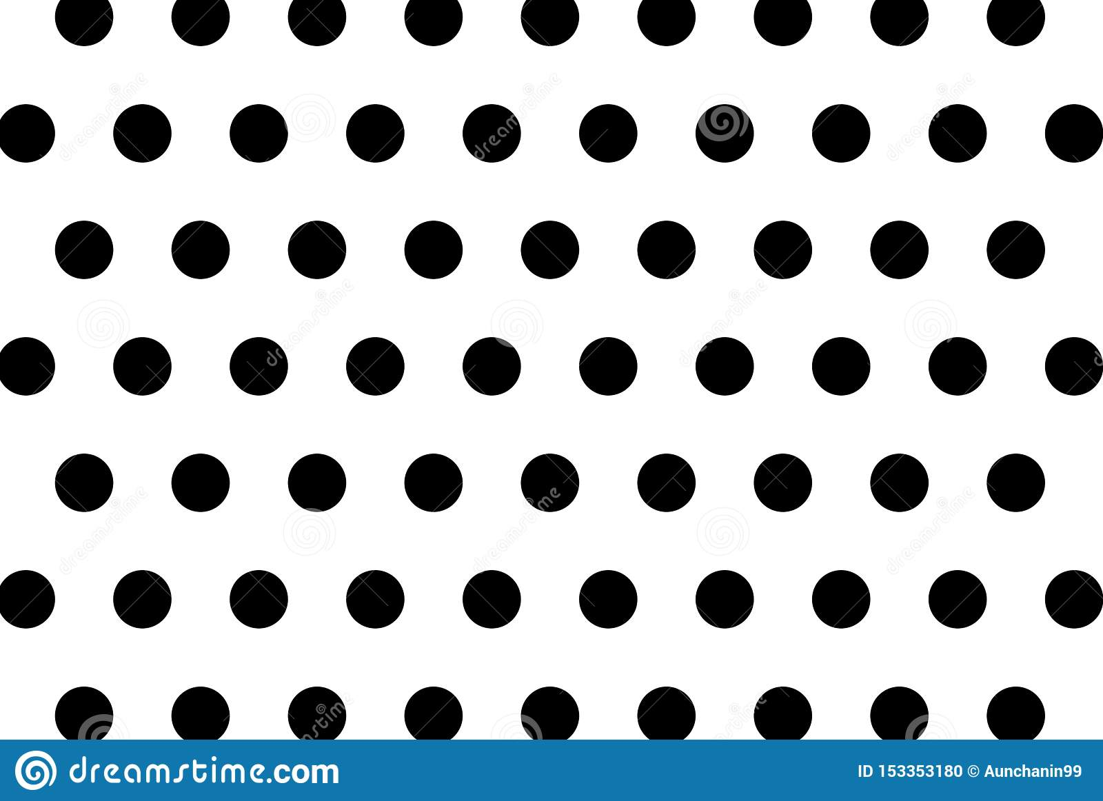 Polka dots on white background.