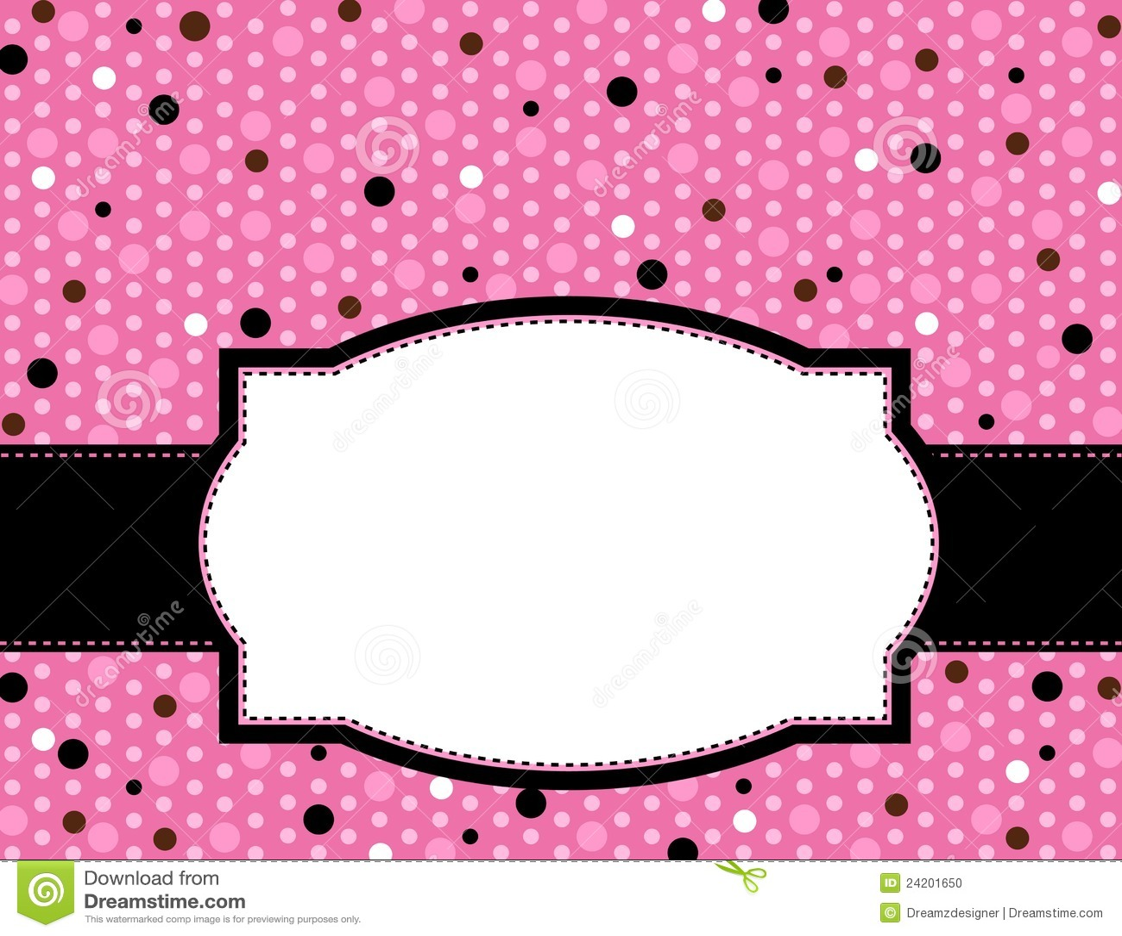 Polka Frame Background Stock Vector Illustration Of Brochure 24201650