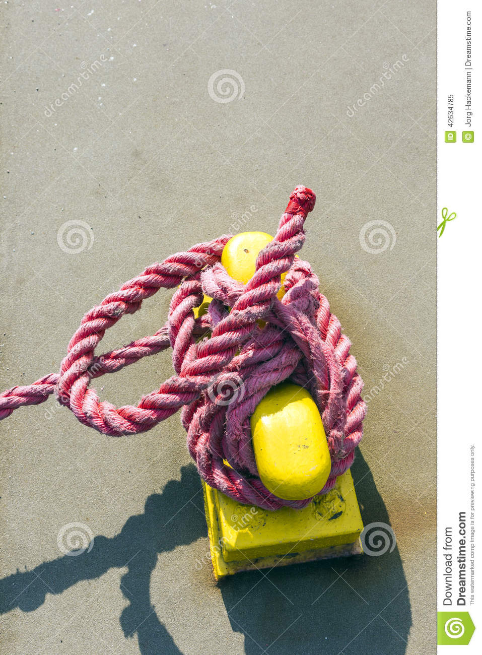 Download Pollard with rope stock image. Image of marine, industry - 42634785