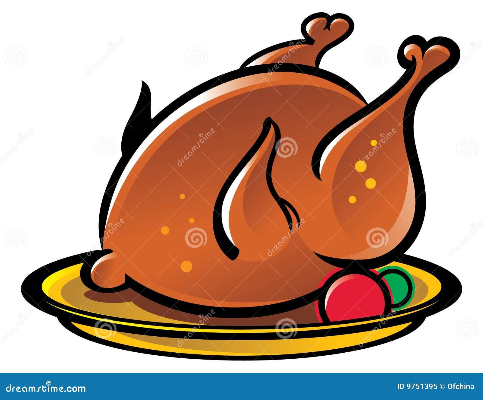 Pollo asado a la parilla ilustración del vector