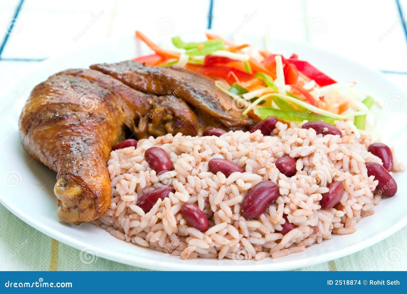 Pollo del tirón con arroz
