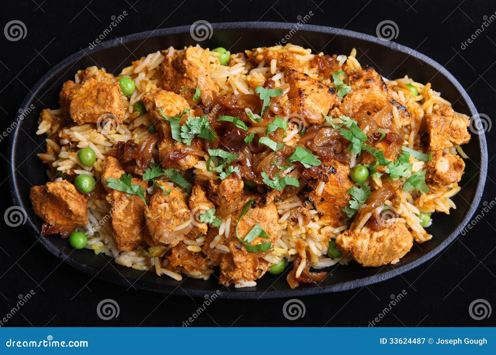 Pollo indio Tikka Biriyani