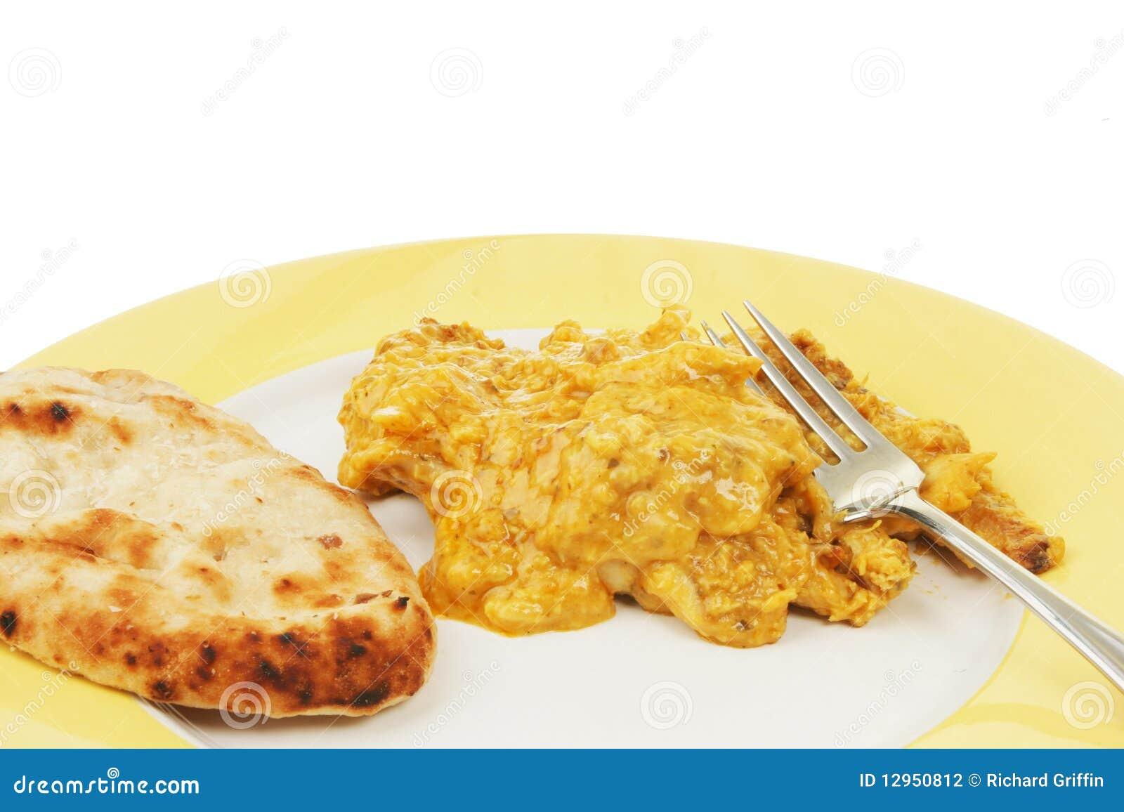 Pollo Korma y cloesup naan