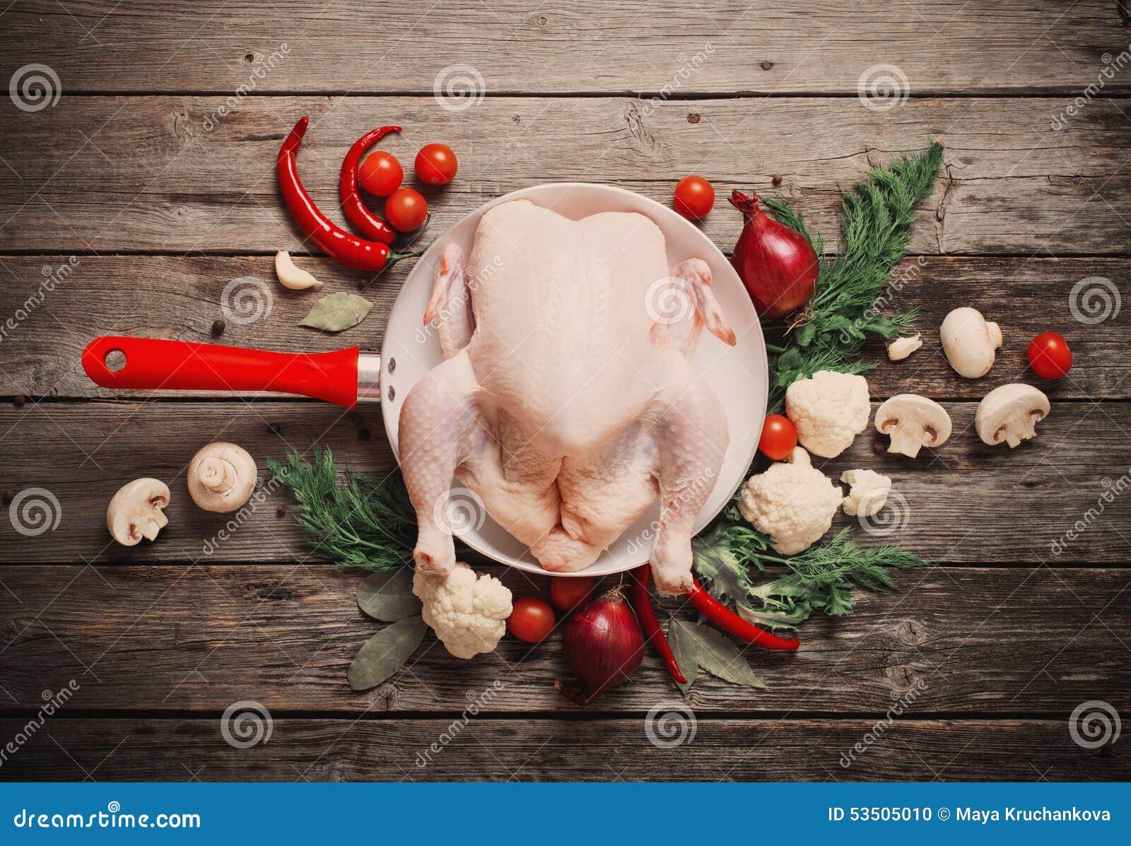 Pollo sin procesar entero