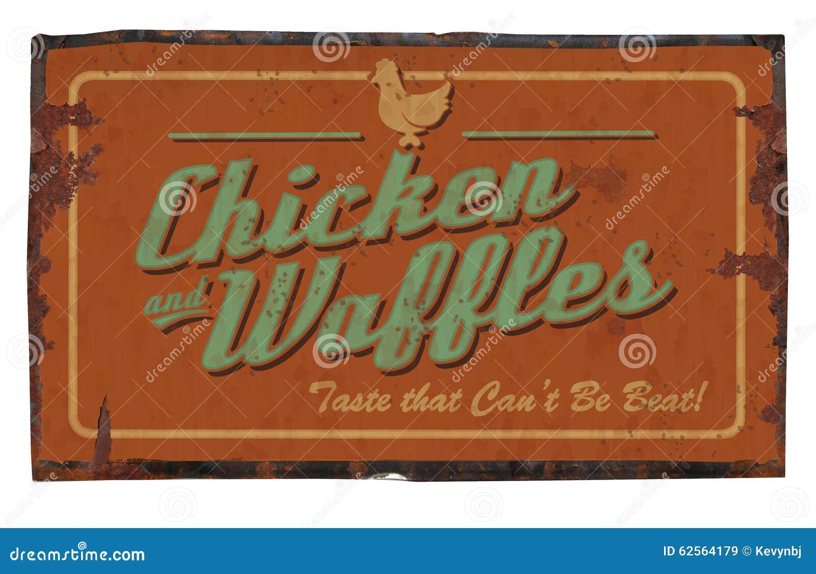 Pollo y galletas Tin Sign