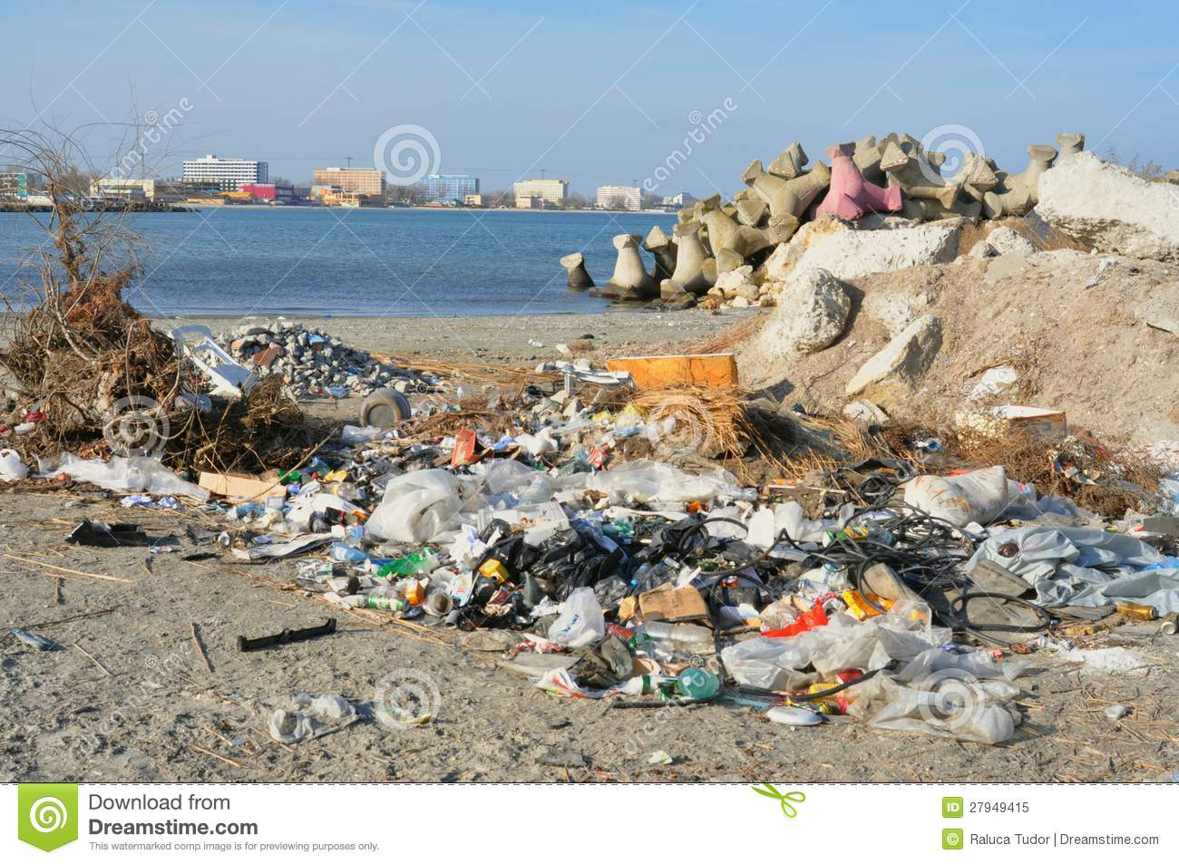 Polluted, Dirty Black Sea In Romania Royalty Free Stock Photo - Image ...