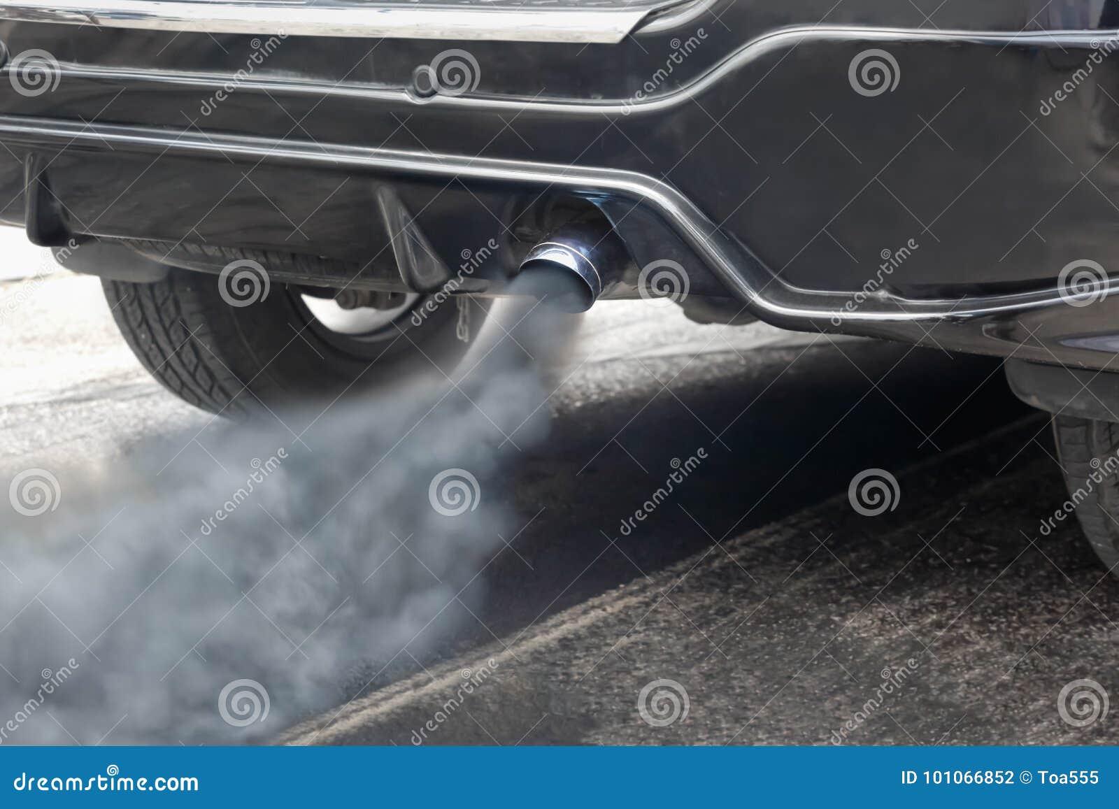 Pollution atmosphérique de pot d échappement de véhicule