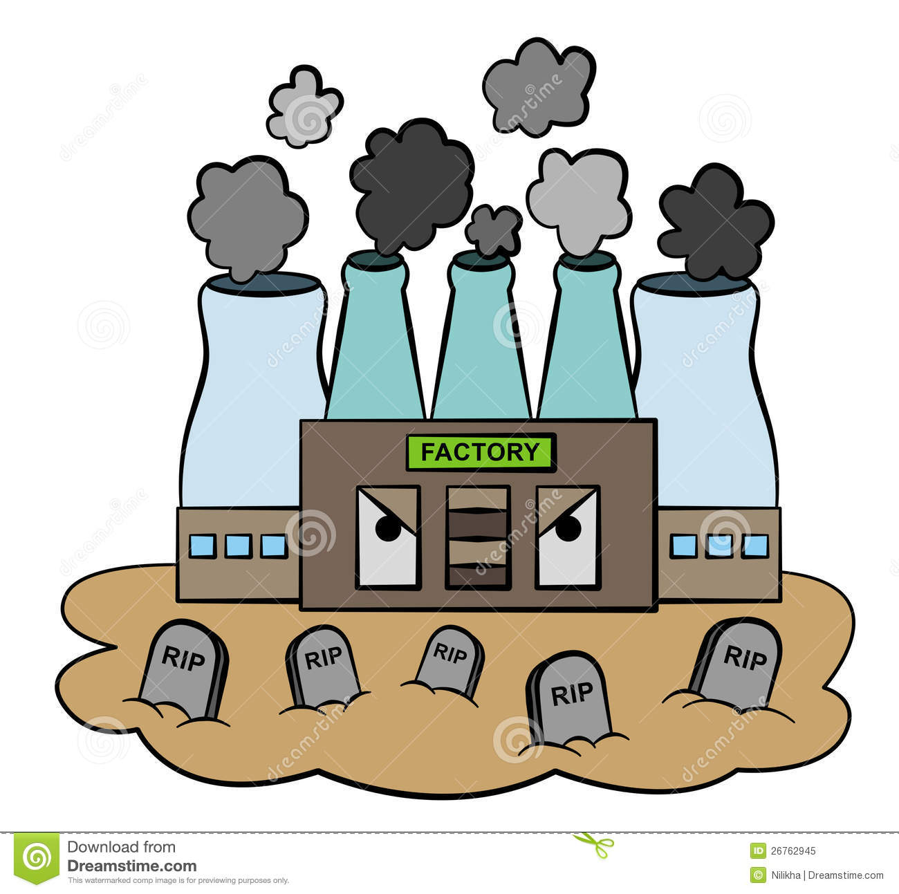 Pollution factory stock illustration. Image of smoke ...