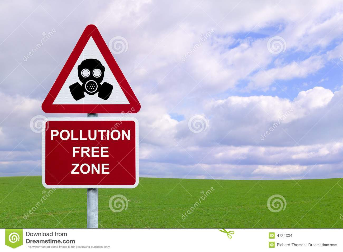 pollution free environment Generally any substance that people introduce into the atmosphere that has damaging effects on living things and the environment is considered air pollution.