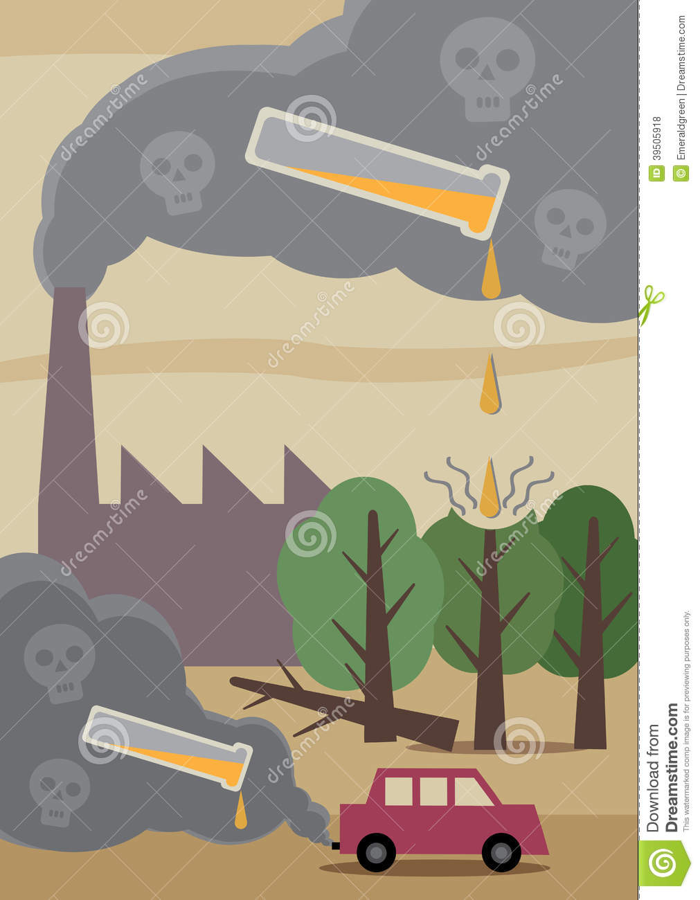 pollution stock vector