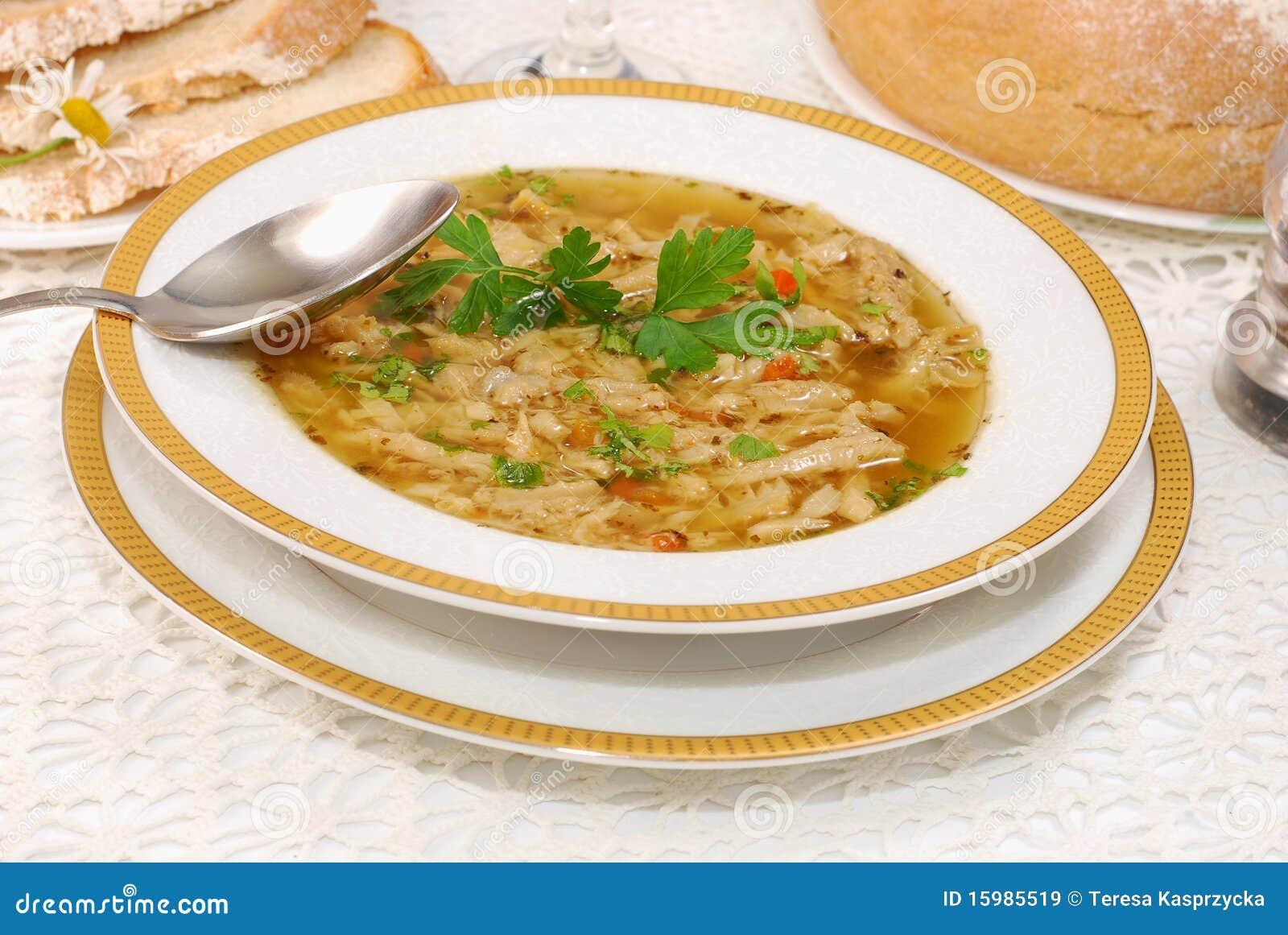 Polnische Kaldaunensuppe (flaki) Stockbild - Bild von essen, cuisine ...