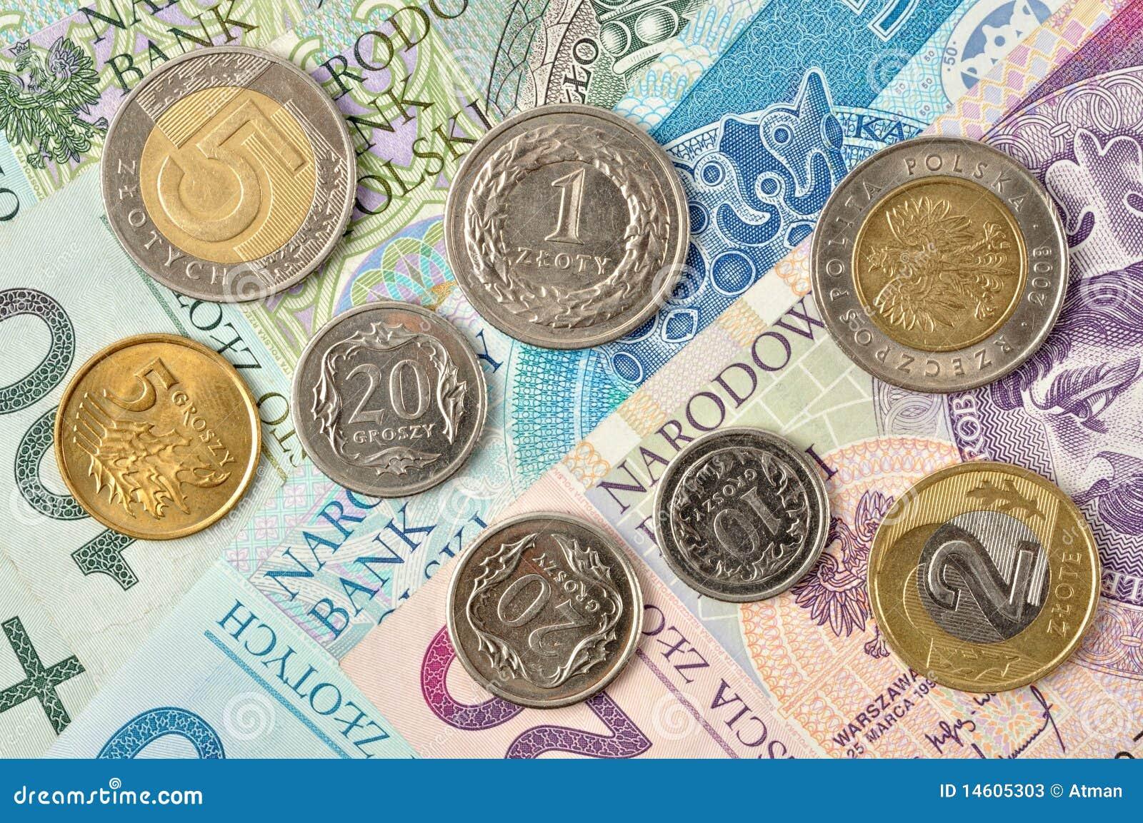 Polnisches Geld Zloty Banknoten Und Münzen Stock Images 59 Photos