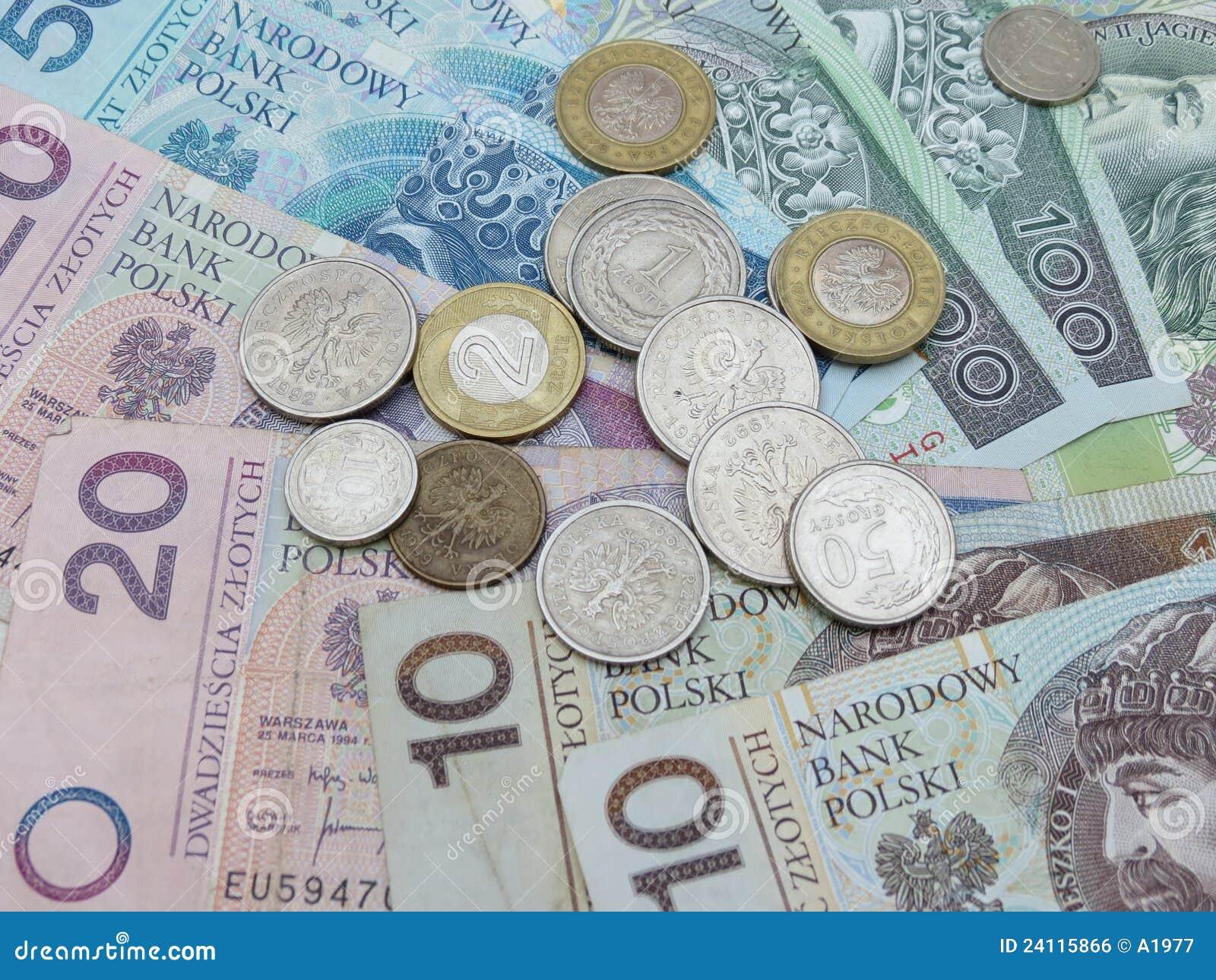 Polnisches Geld Stockfoto Bild Von Earn Bankverkehr 24115866