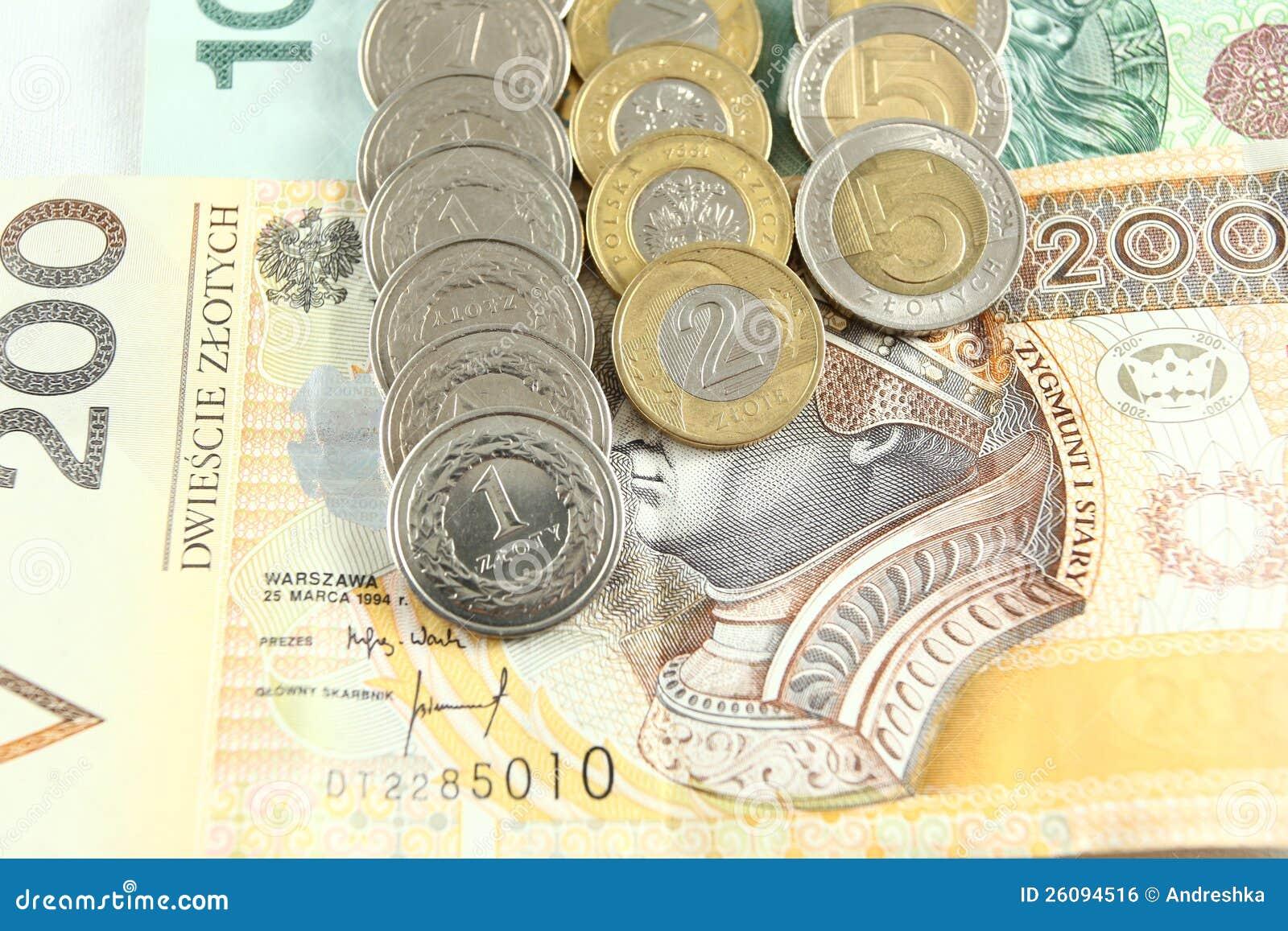 Polnisches Geld Stockfoto Bild Von Geld Einkommen Steuer 26094516