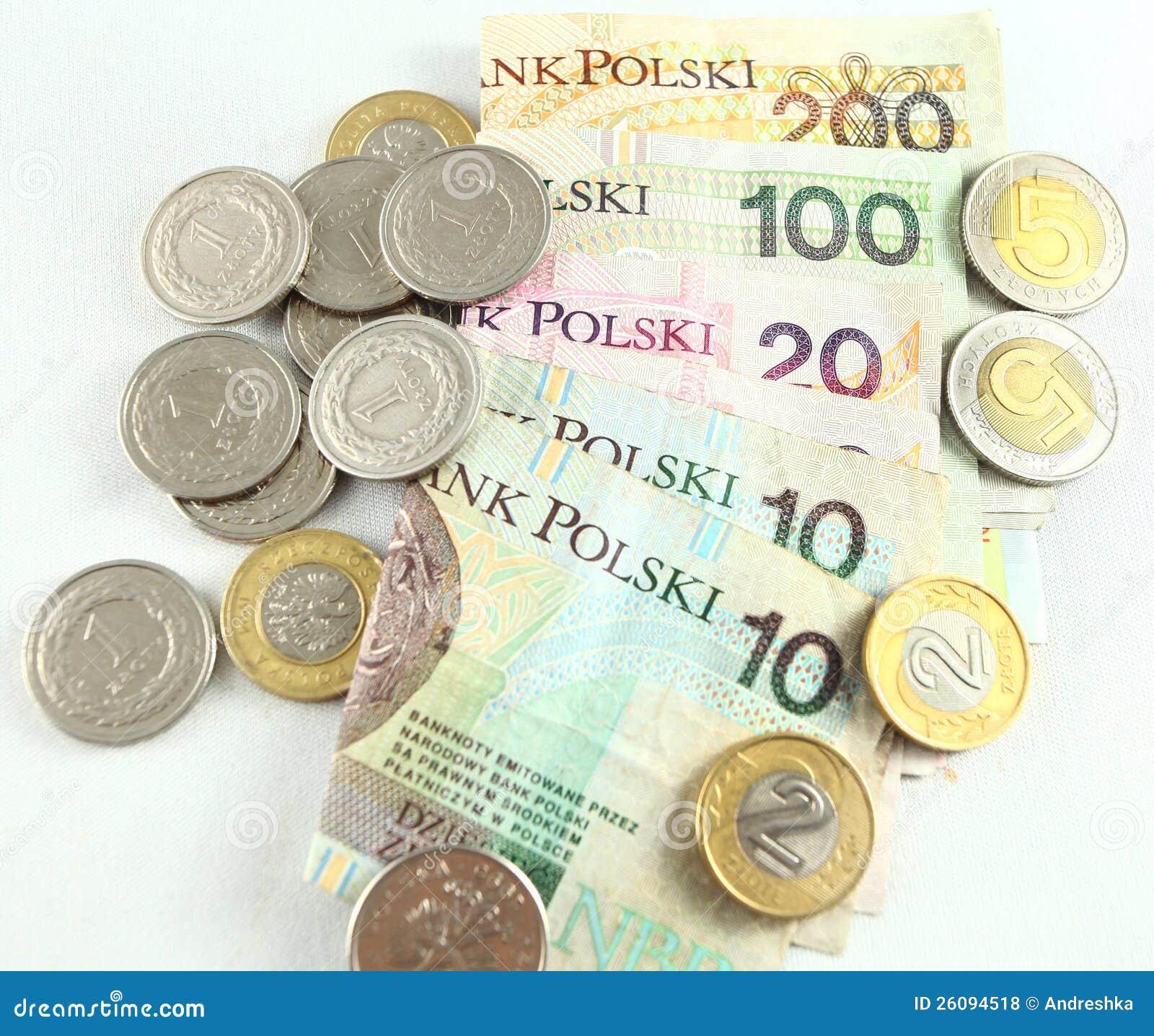 Polnisches Geld Stockfoto Bild Von Earn Münzen Kauf 26094518
