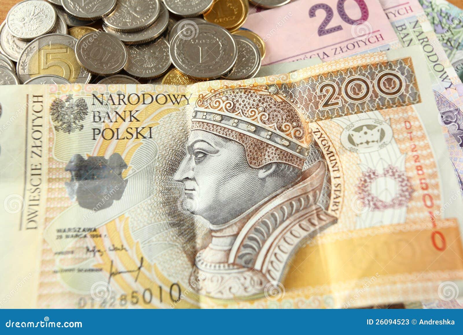 Polnisches Geld Stockbild Bild Von Münzen Anmerkung 26094523