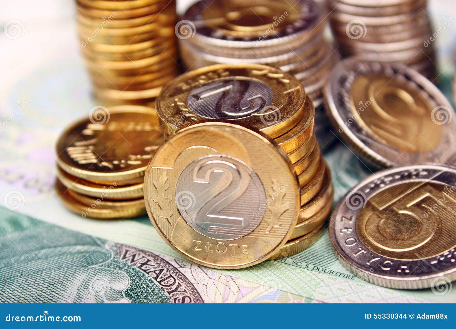 Polnisches Geld Stockfoto Bild Von Investitionen Zahlung 55330344