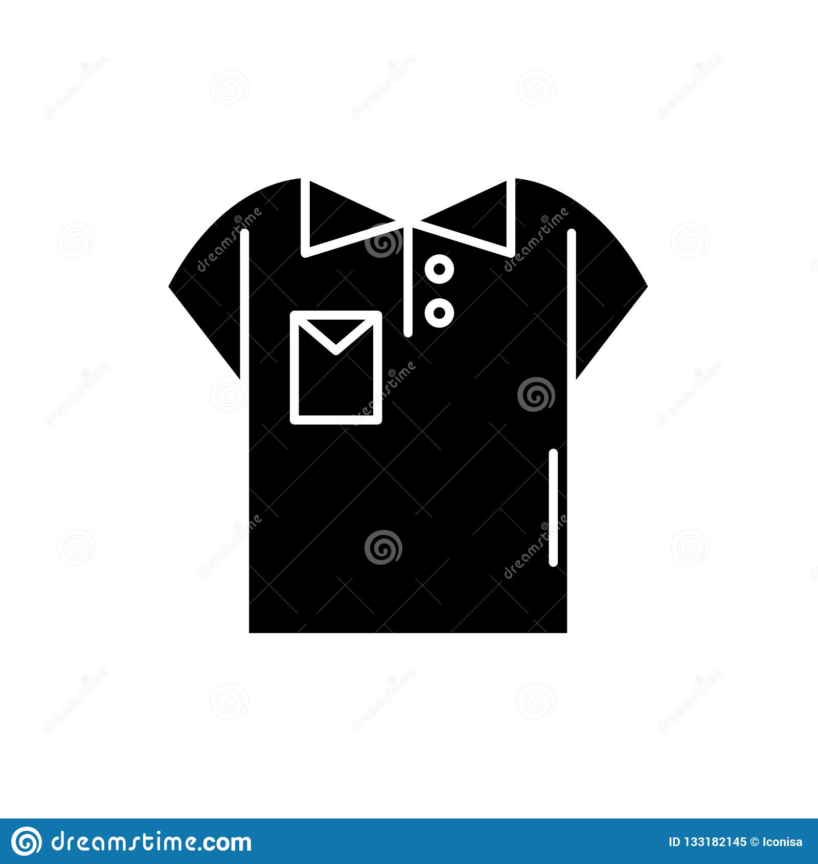 Polo Black Icon, Vector Sign On Isolated Background. Polo ...