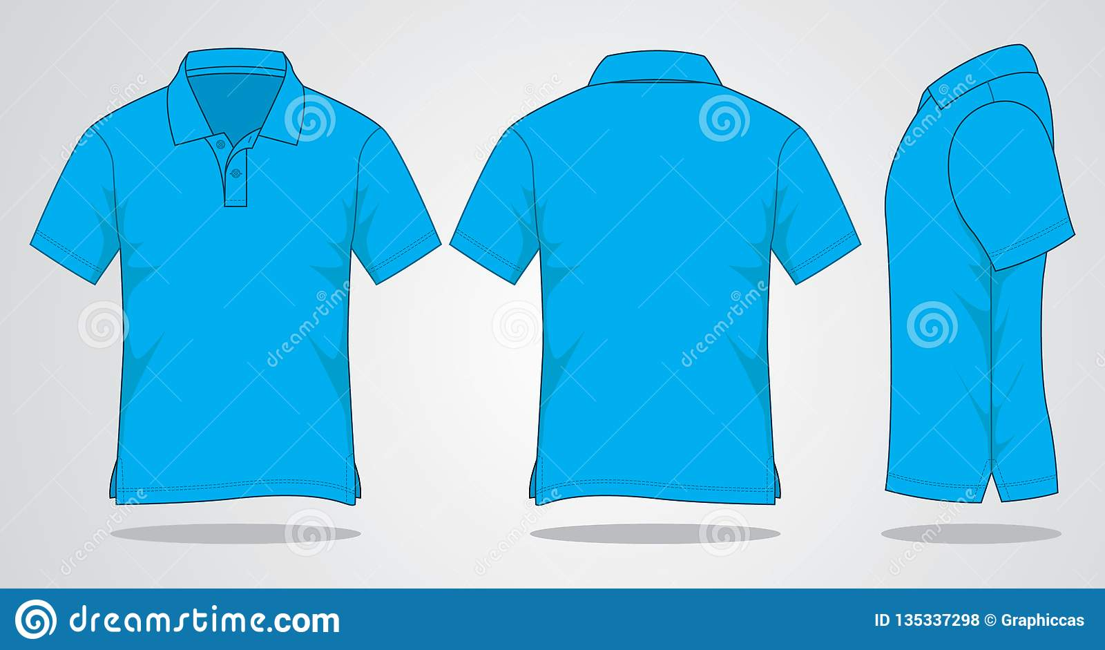 b5623d0c1 Front, Back and Side View - On White Background - Vector file - Garment -  Unisex - Sports - Cotton. More similar stock illustrations