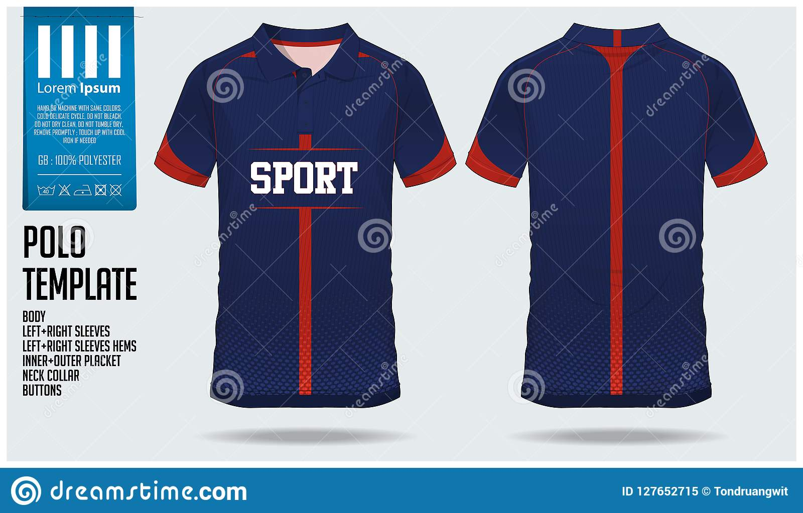 5539d9a6 Polo t shirt sport design template for soccer jersey, football kit or sport  club.