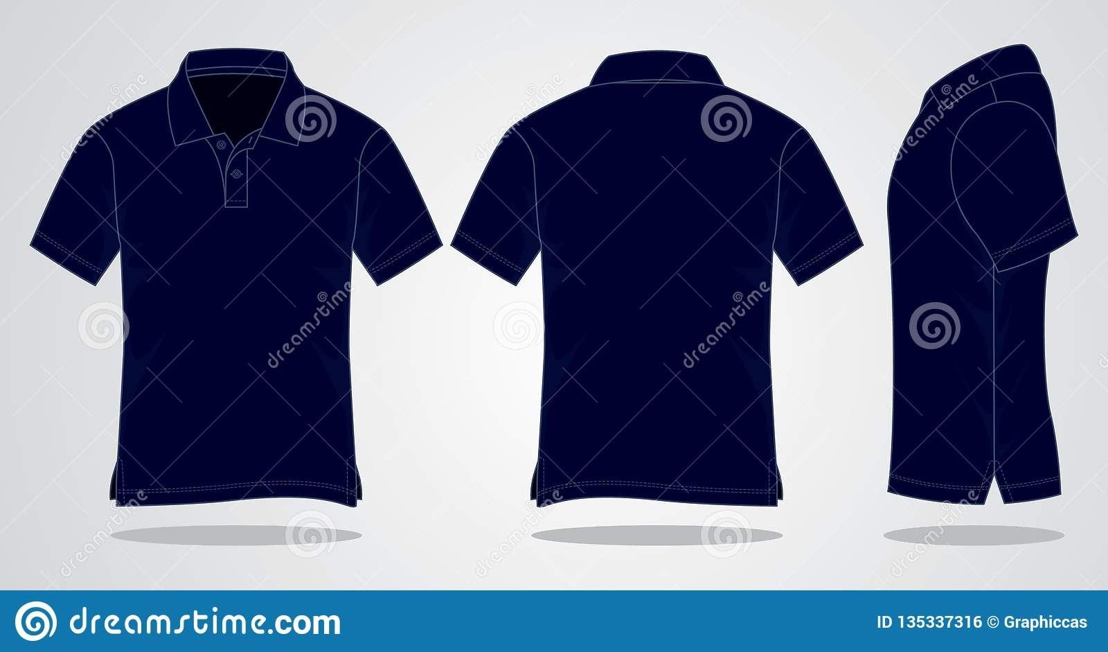 6b82c4a1ad01 Navy Blue Polo Shirt Vecor For Template Stock Illustration ...