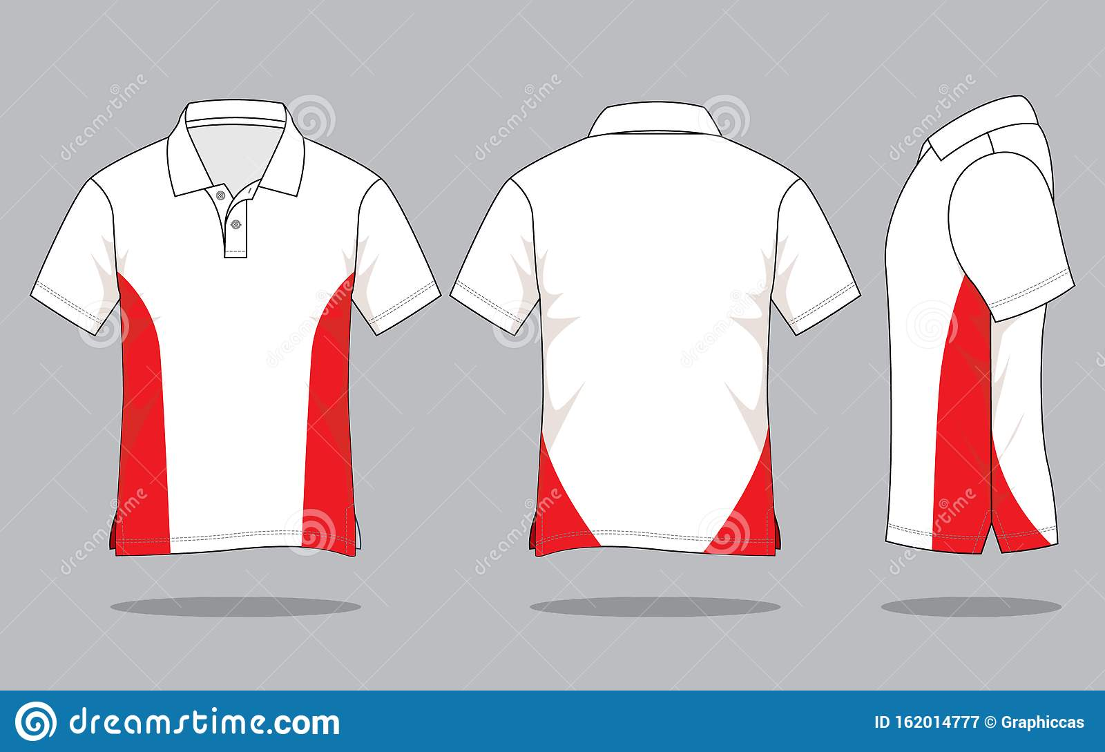Polo Shirt Design Vector With White Red Colors Stock Illustration Illustration Of Graphics Colorful 162014777